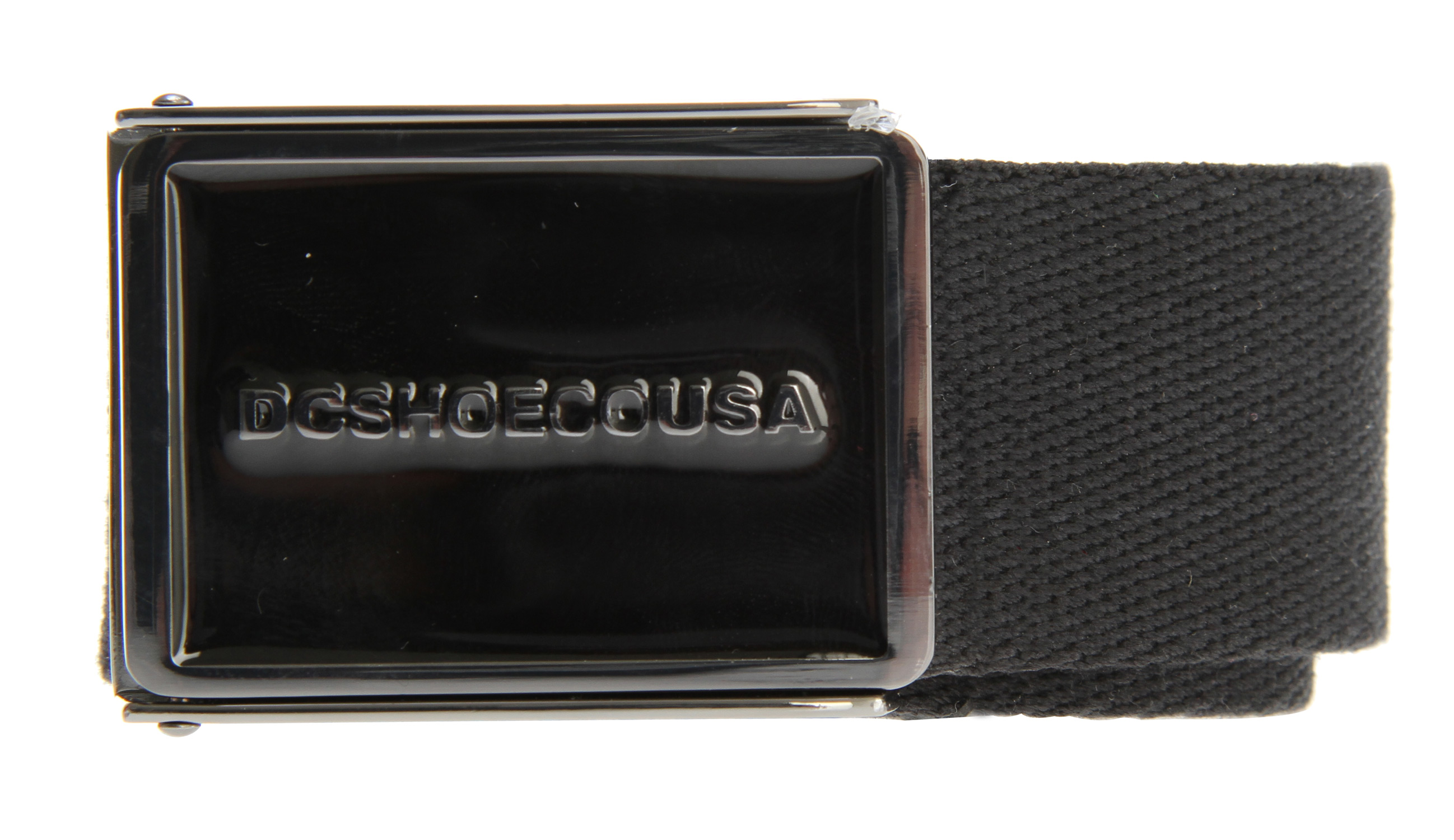 Key Features of the DC Errr Day Belt: Industrial nylon web belt Custom heavy duty enamel fill buckle Internal DC Branding and tonal woven belt tip finish - $20.00