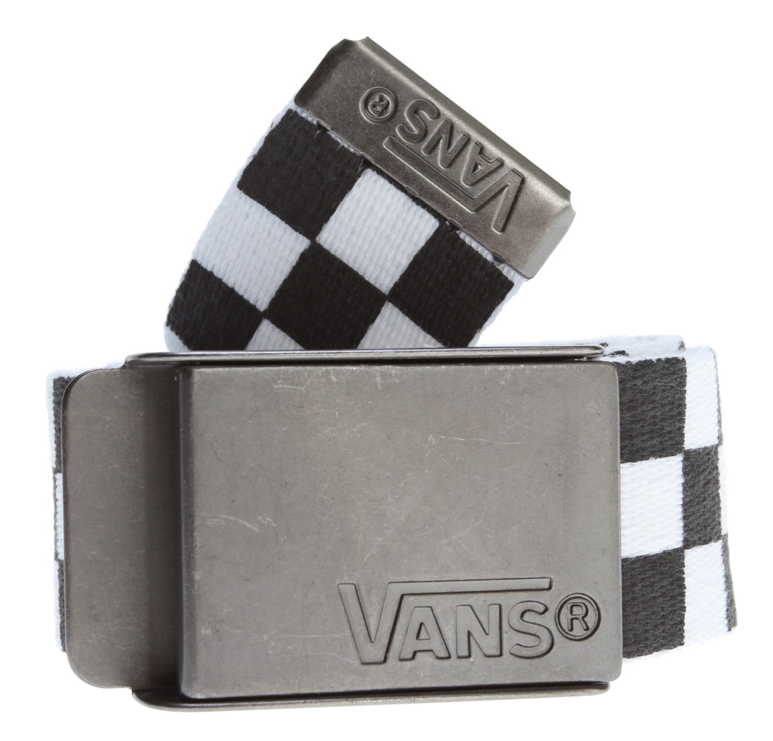 Skateboard Keep your pants up where they belong, with style, with the Vans Deppster Web Belt. This comfy 100% polyester webbed belt features an all-over checkerboard print that offers fine fashion without screaming, a oeHey, look at me!a  It comes with a cool custom Van's logo buckle, allowing you to look cool, subtly, and wear it more places than other styles might allow.Key Features of the Vans Deppster Web Belt: 100% Polyester web belt with all-over checkerboard print Custom Vans buckle and tipping. - $15.00