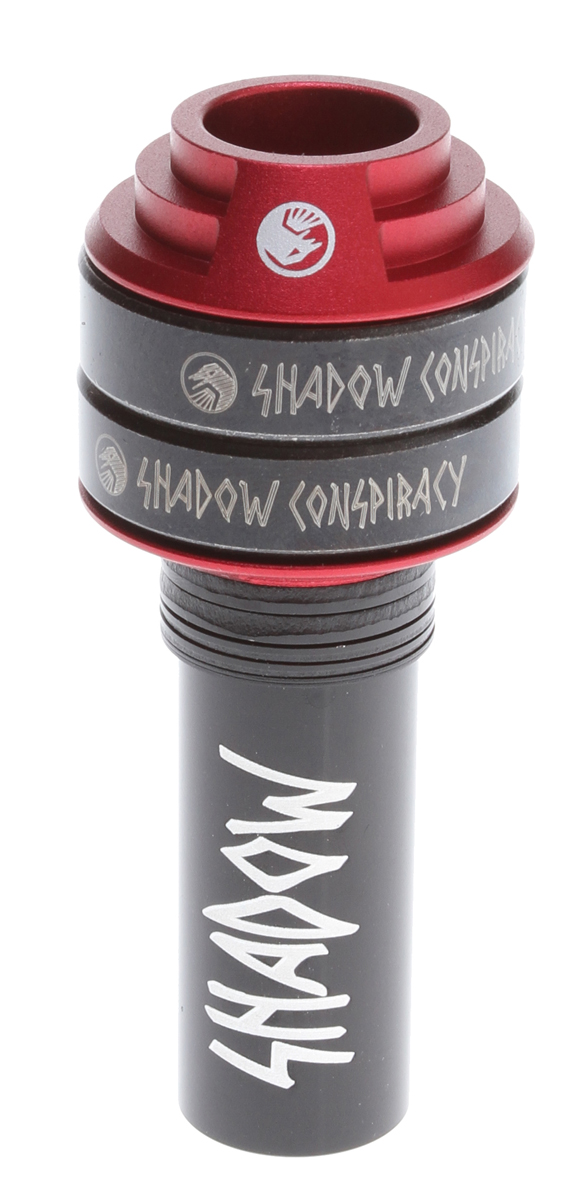 BMX Key Features of the The Shadow Conspiracy Corvus Mid Bottom Bracket Red 19mm: BB Style: Mid Fits Spindle Diameter: 19mm/.750 Wght/Dims: .45 lbs. 5.25 x 3.75 x 2.25 - $28.95