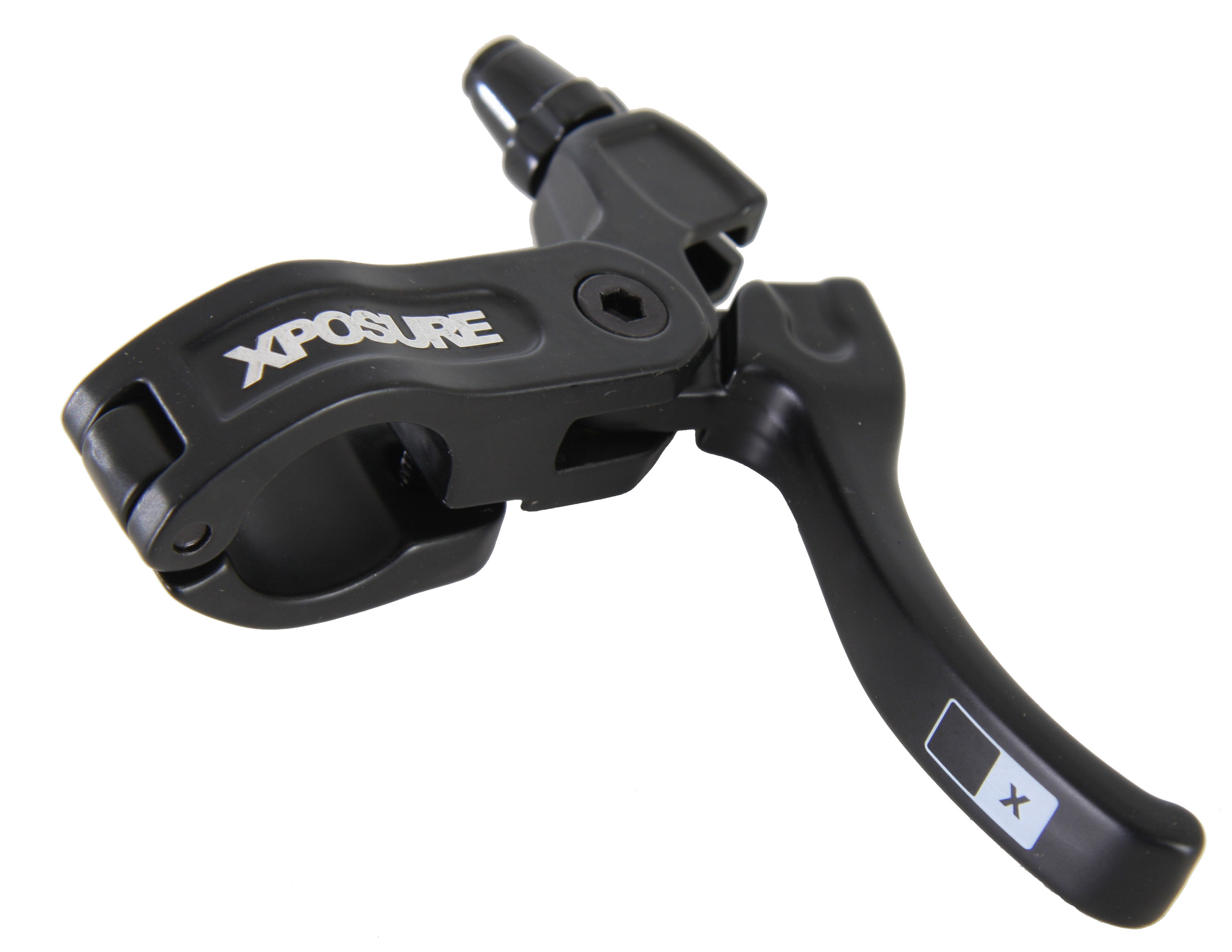 "BMX Designed in the UK, Xposure have an increasing range of parts to keep your bike looking fresh. Key Features of the Xposure High Bike Brake Lever Right Side Black: 2 finger design Forged construction Hard anodized hardware Standard 7/8"" (22mm) clamp - $14.95"