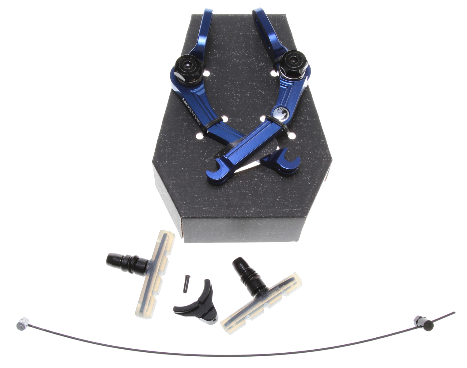 BMX Key Features of the The Shadow Conspiracy Caliper U Brakes Perma Blue: Brake Type : BMX Sidepull Brake Lever Actuation: Short Pull Wght/Dims: .6 lbs. 7 x 5.75 x 3 - $63.95