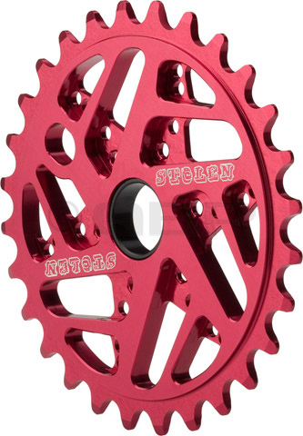 "BMX Key Features of the Stolen 7075 Mood Bike Chainrings  25T: CNC-machined AL-7075 Unique geometric webbing reduces weight with out decreasing strength Includes adaptor for 19mm Includes two adaptors Teeth: 25 Spindle Hole Diameter: 22.2mm/.875"" Material: 7075 Aluminum Wght/Dims: .12 lbs. 8 x 8 x .25 - $40.95"