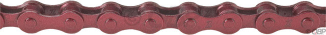 "BMX KMC Z410 Single Speed Chains.Key Features of the KMC Z410R Chain Red 1/8in: For non-derailleur bikes: BMX, cruisers, etc. Chain Compatibility: 1/2"" x 1/8"" Number of Speeds: Single Speed Defined Color: Red Color: Red Links: 112 Width: 9.3 mm Weight: 399.0 g - $8.95"