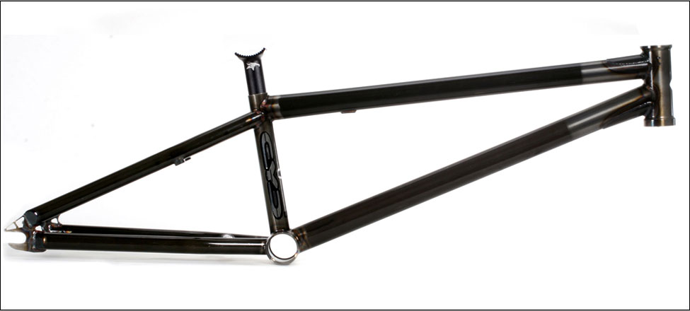 "BMX Key Features of the Eye BMX 4130 Bike Frameset: 13.5-14"" chainstay length. 74.5 Head tube angle on the 21"" (75 on the 21.25""). 71 Seat tube angle. 11.5"" Bottom bracket height. 25.4 Seat post (Animal Post included, and recommended). You have to run a wedge style post with this frame. (Animal, Stolen, etc. ) 14mm CNC'd drops. All brake studs, tabs, and gyro tabs are removable, for a clean brakeless look. .035 - .049 tubing throughout, with a few butted areas where it is needed. 21.25"" weighs 4lb 9oz. Obviously the smaller sizes are just under that weight. - $438.95"