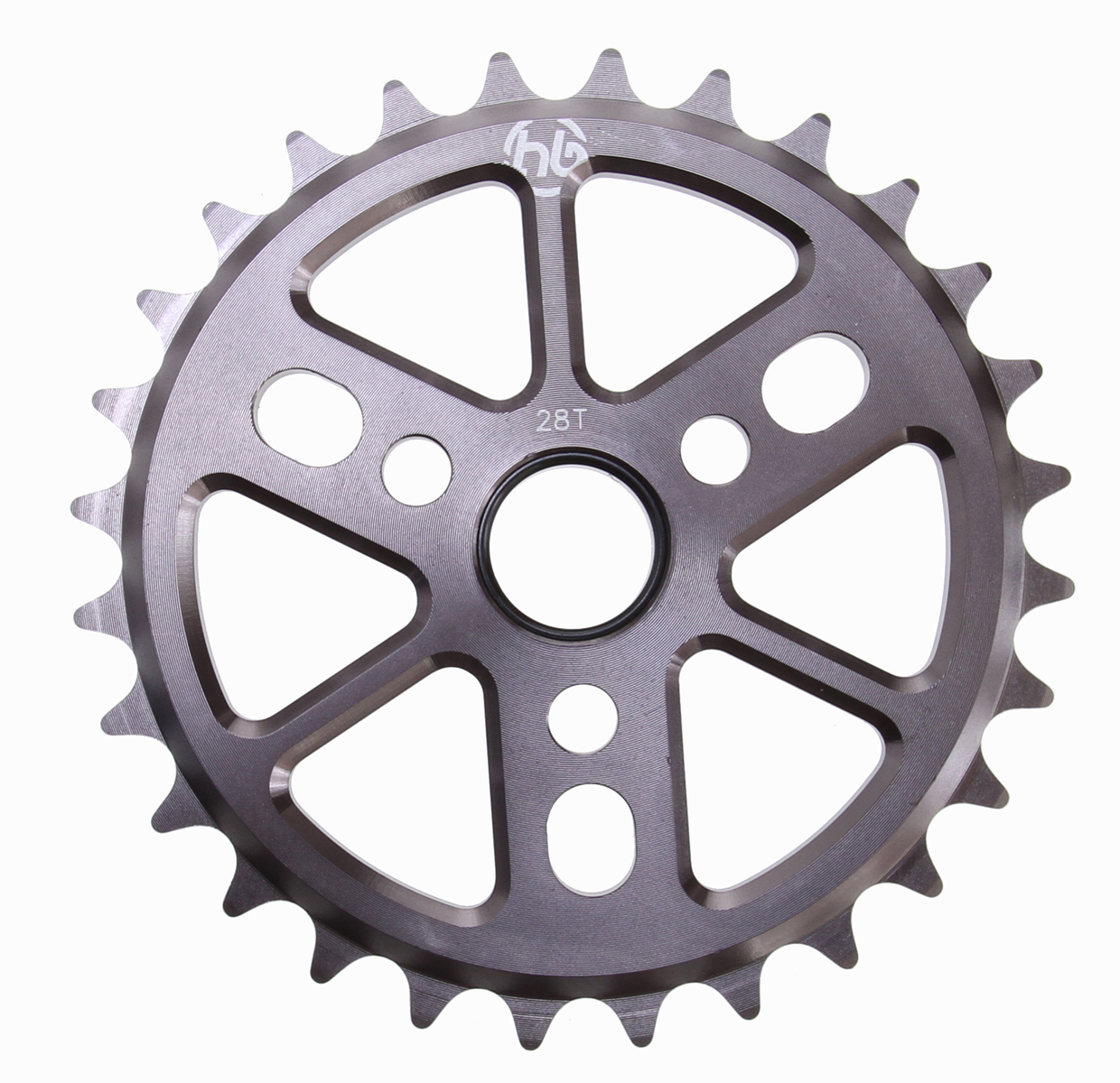 BMX Made from 6061 Aluminum, this sleek and lightweight sprocket has weight saving cut outs without sacrificing strength. Key Features of the Hoffman Dinky 6061 Alloy Sprocket Bronze 28T: Machined 6061 Aluminum 5.5mm thick 3 crank position holes 2.4oz (25t) - $22.95