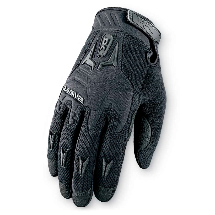 Surf The glove that started it all for DAKINE in the mtb glove business is still leading the charge with its comfortable fit and bomber construction.Key Features of the Dakine Cross X Bike Gloves: Back of Hand: Moisture wicking 4-way stretch polyester, embossed neoprene, sonic welded armor Palm: Clarino® synthetic suede Palm Padding: 3mm foam Closure: Adjustable hook and loop Neoprene knuckle flex panels Terrycloth thumb panels Silicone gripper finger tips - $35.00
