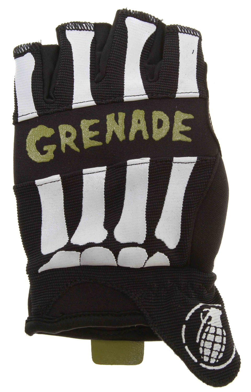 MTB Grenade Bender Fingerless Bike Gloves Black/Lime - $10.37