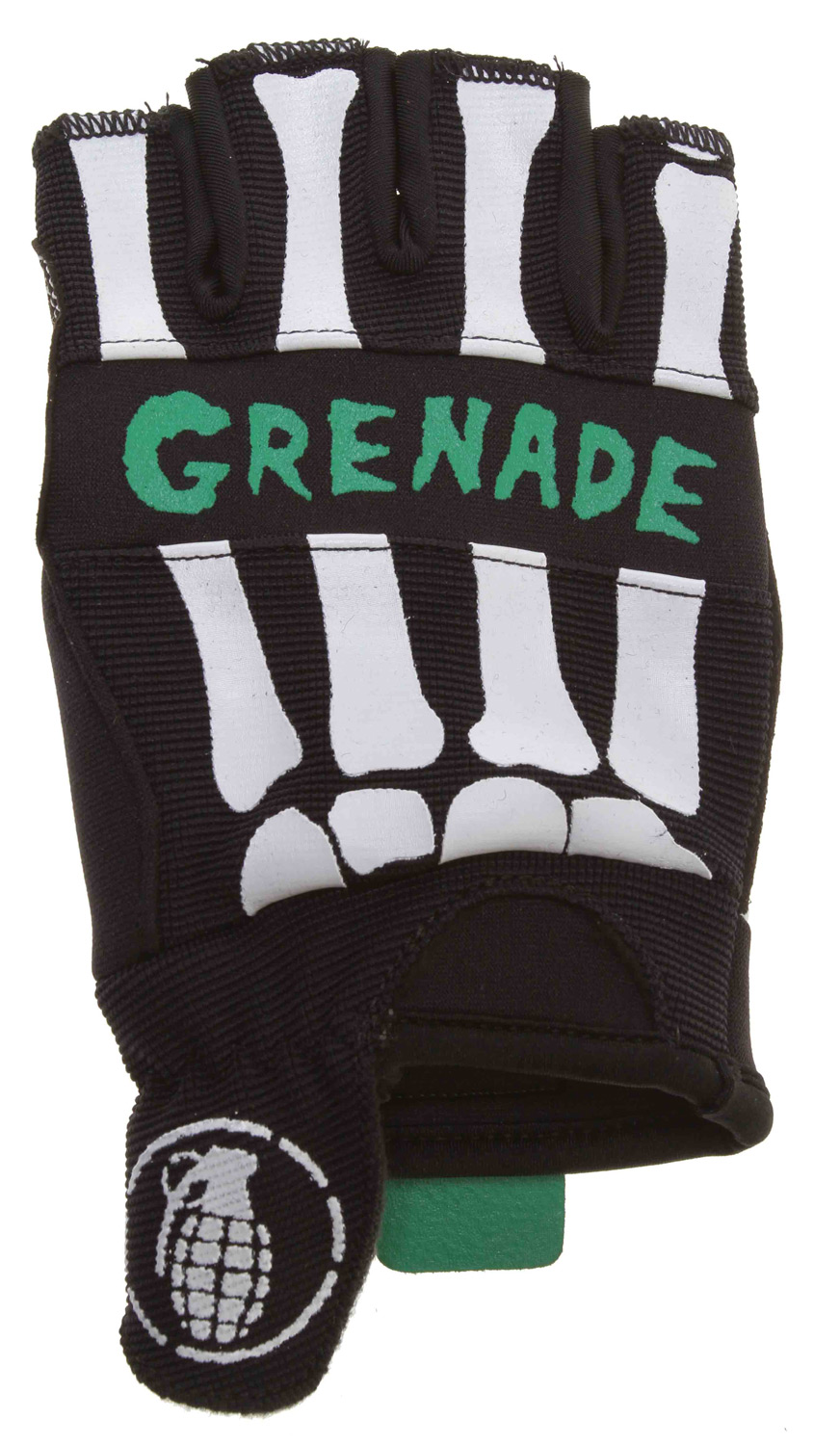 MTB Grenade Bender Fingerless Bike Gloves Black/Teal - $10.37