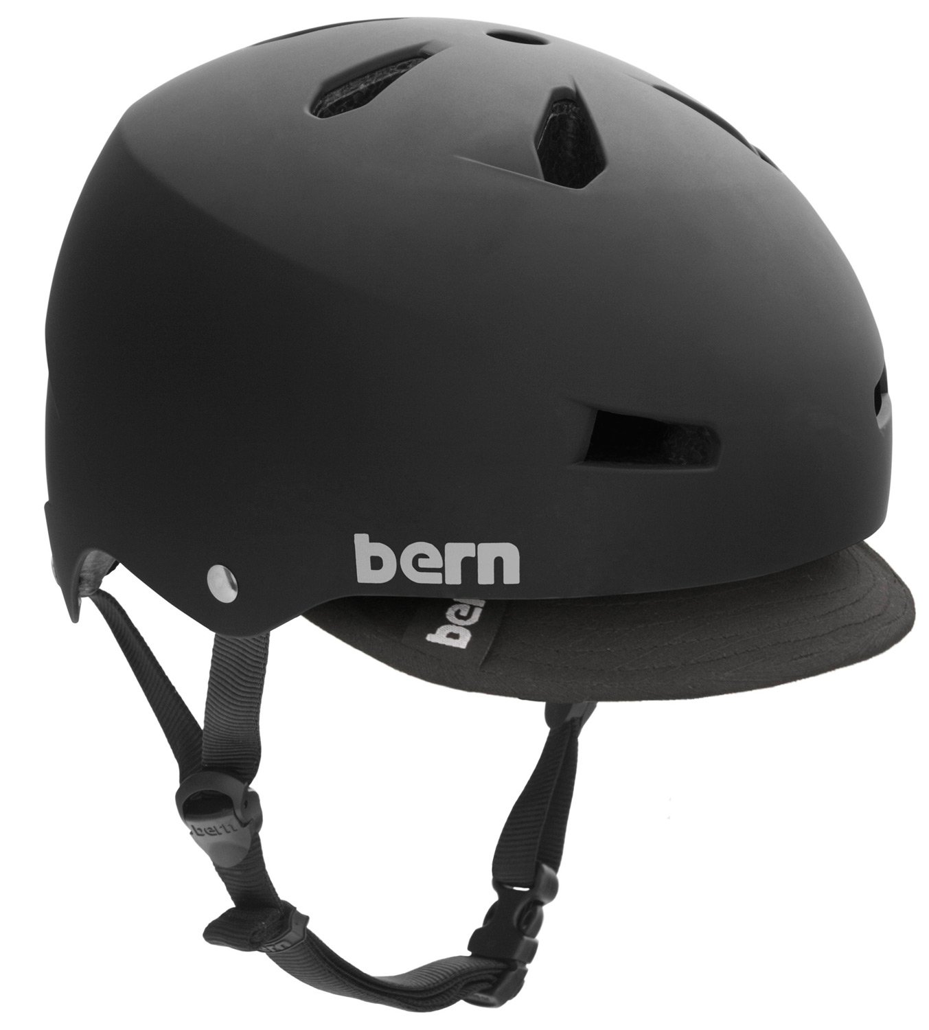 Ski The Macon bike helmet takes skate style to your everyday commute. Core clean lines and durable construction team up with a removable visor for protection against the sun and inclement weather. Bern's All Season liner system allows you to use the Macon on your snowboard, skis or bike.Key Features of the Bern Macon w/ Visor Bike Helmet: Available as a helmet with ABS shell and EPS hard foam. EPS hard foam meets ASTM F 2040 and EN 1077B standards for snow and ski, CPSC and EN 1078 standards for bike and skate. 19.1 oz - $35.95