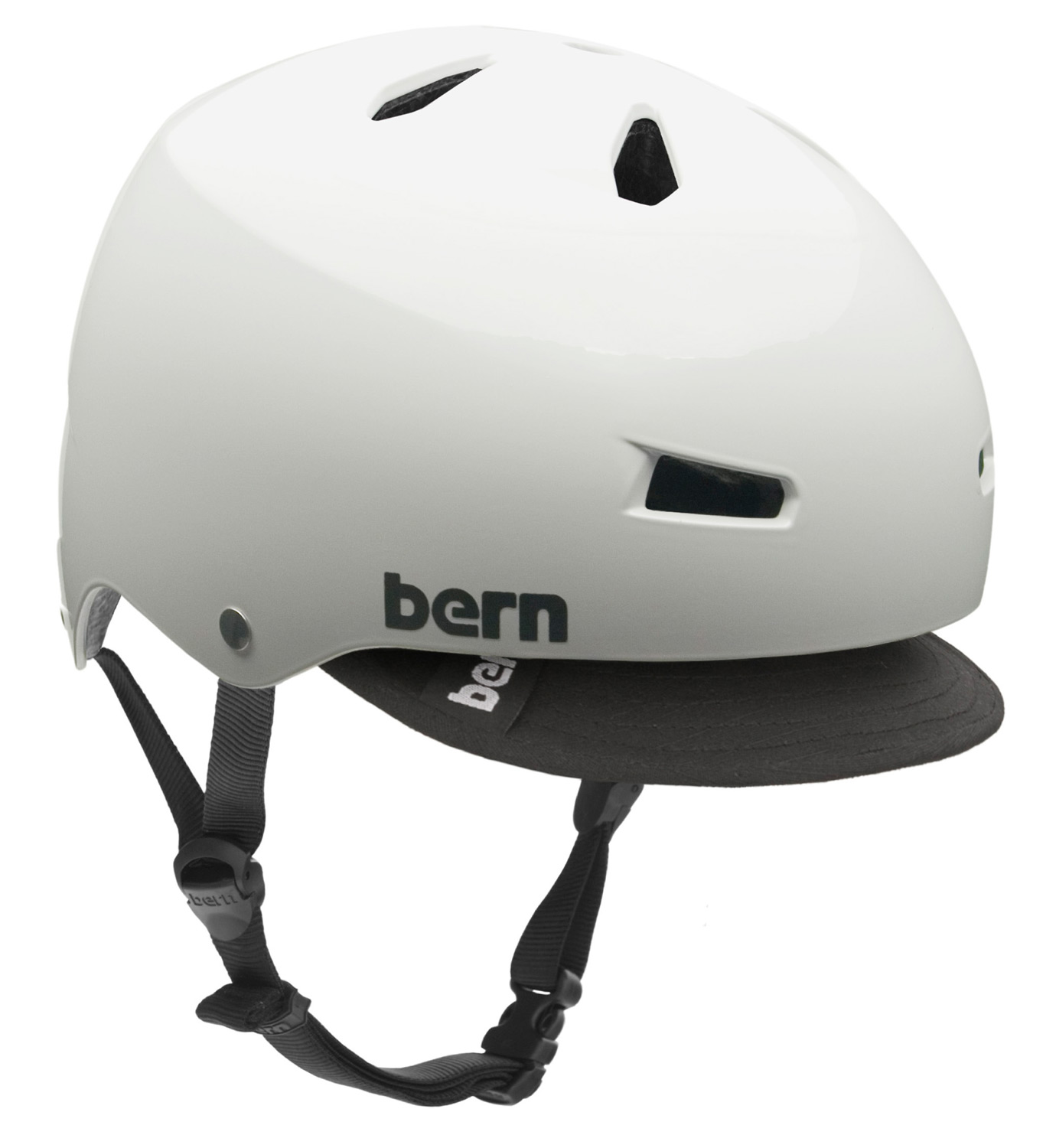 Ski The Macon bike helmet takes skate style to your everyday commute. Core clean lines and durable construction team up with a removable visor for protection against the sun and inclement weather. Bern's All Season liner system allows you to use the Macon on your snowboard, skis or bike.Key Features of the Bern Macon w/ Visor Bike Helmet: Available as a helmet with ABS shell and EPS hard foam. EPS hard foam meets ASTM F 2040 and EN 1077B standards for snow and ski, CPSC and EN 1078 standards for bike and skate. 19.1 oz - $60.00