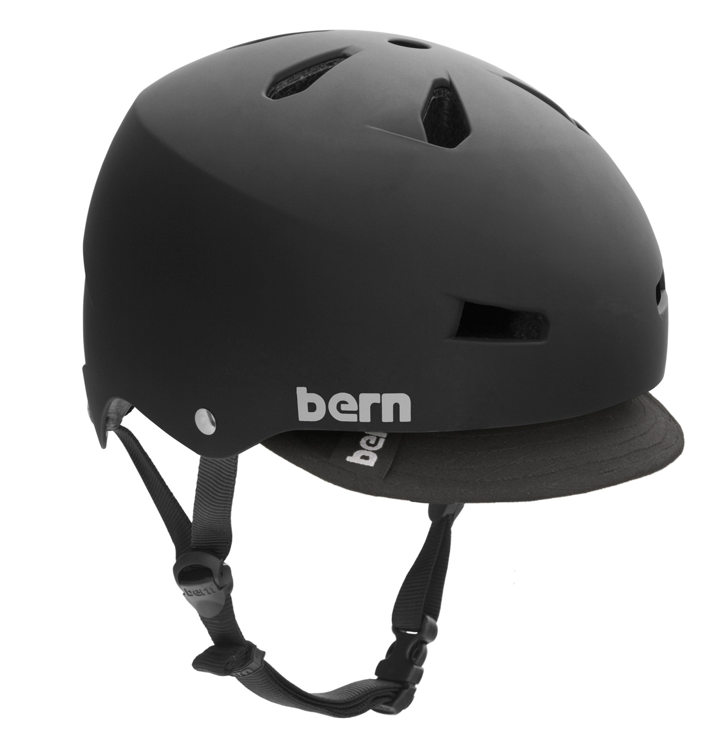Ski The Macon bike helmet takes skate style to your everday commute. Core clean lines and durable construction team up with a removable visor for protection against the sun and inclement weather. Bern's All Season liner system allows you to use the Macon on your snowboard, skis or bike. EPS hard foam meets ASTM F 2040 and EN 1077B standards for snow and ski, CPSC and EN 1078 standards for bike and skate. - $49.95