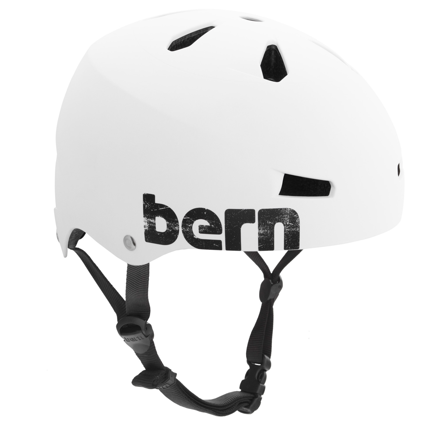Ski The Macon bike helmet takes skate style to your everday commute. Core clean lines and durable construction team up with a removable visor for protection against the sun and inclement weather. Bern's All Season liner system allows you to use the Macon on your snowboard, skis or bike. EPS hard foam meets ASTM F 2040 and EN 1077B standards for snow and ski, CPSC and EN 1078 standards for bike and skate. - $32.95