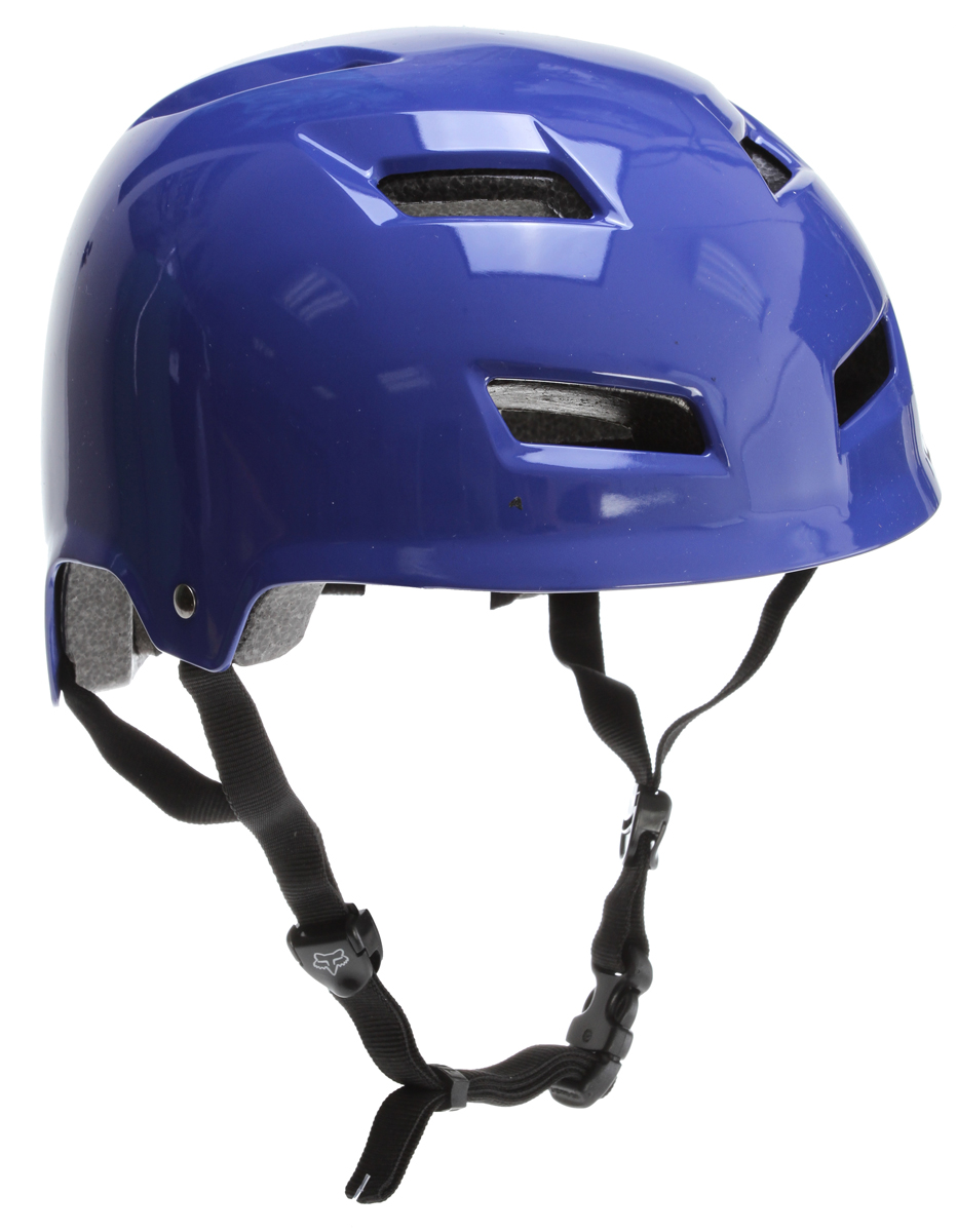 Motorsports Key Features of the Fox Transition Hard Shell Bike Helmet: The Fox Transition Hard Shell Helmet takes design cues from our Transition helmet, but uses an ABS outer shell with an EPS liner for a more traditional street style look. Suitable for dirt jumping, park riding, or aggressive trail riding. CPSC 1203, ASTM F1952, AS/NZS 2063:2008, EN 1078:1997 approved 11 venting ports promote increased airflow & breathability Cheek pads & inner comfort liner, made from suede micro fiber, are removable & washable - $29.95