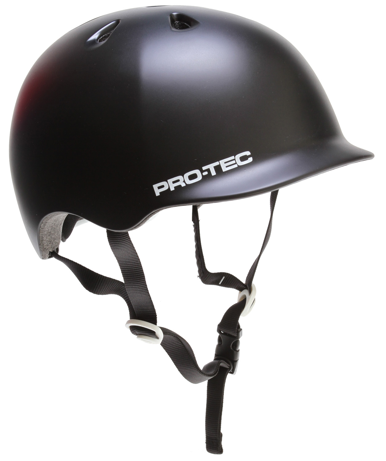 Skateboard The Riot Street is the newest addition to the Pro-tec line, bringing you a lightweight, low-profile fit and feel. Built around our Classic skate shape with visor styling, the Riot Street is the perfect choice for the urban commuter.Key Features of the Protec Riot Street Bike Helmet: SHELL: In-mold micro shell LINER: EPS impact liner INTERIOR: Die-cut PU foam padding with laminated Nylex VENTILATION: 7 open vents with internal venting system FIT: 6 sizes / 3 shell breaks CERTIFICATION: CPSC 1203, CE 1078 CLEAR REFLECTIVE STICKERS: Placed on the back of the helmet - $89.99
