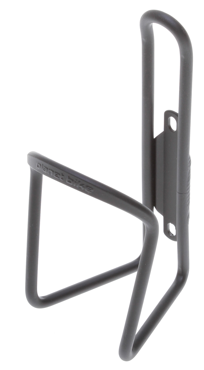 MTB Planet Bike's Aluminum water bottle cages offer lightweight durability.Key Featues of the Planet Bike Alloy Water Bottle Cage Flat Black 6.2mm: Made from durable, 6061 aluminum Planet Bike MAP Color: Black Cage Material: Aluminum Weight: 65.0 g Wght/Dims: .2 lbs. 6 x 3 x 3 - $5.95