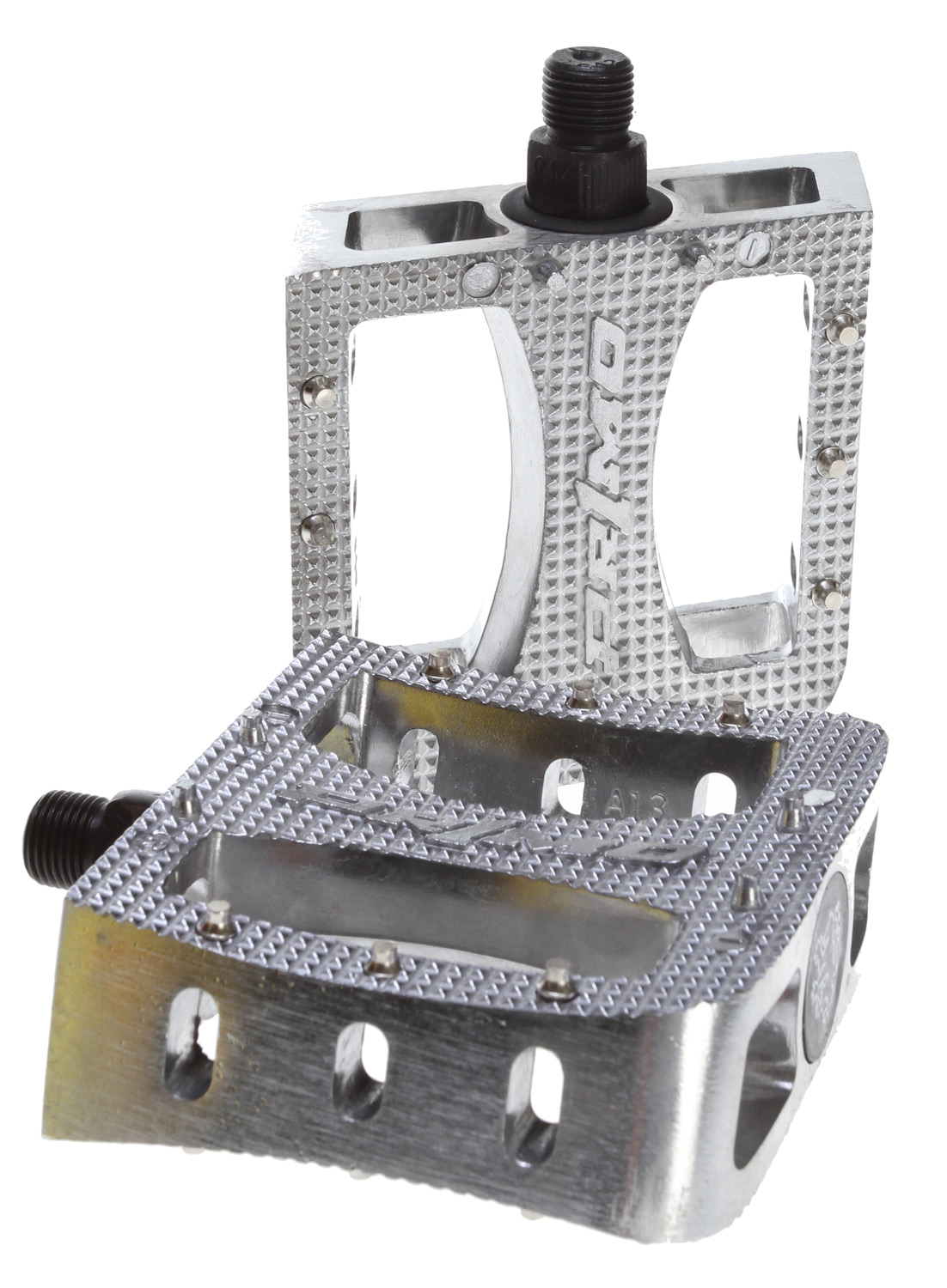 "BMX Primo Super Tenderizer Aluminum BMX Pedals with removable/replaceable pins.Key Features of the Primo Super Tenderizer Pedals Polished 9/16"": Pedal Type: Platform Intended Use: BMX Pedal Spindle: 9/16"" Spindle Material: Chromoly Material: Aluminum Weight: 800.0 g Wght/Dims: 1.91 lbs. 8.5 x 5.5 x 1.5 - $21.00"