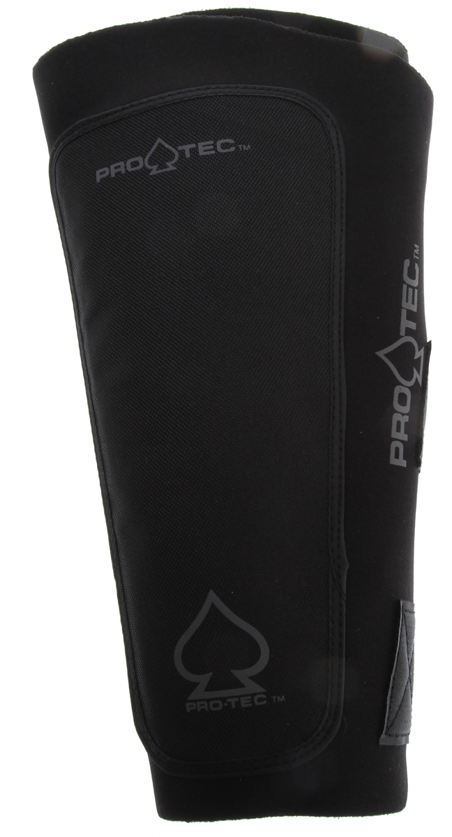 BMX Classic BMX-styled shin guard features a neoprene body with an internal pocket that houses a removable PVC guard and high-density EVA foam padding. Key Features of the Protec Shin Guard Black: Velcro closure with 4 extra-wide straps Stretchy neoprene with high-density polyethylene splint Protection Area: Shin Wght/Dims: .63 lbs. 12.5 x 7 x 1.63 - $35.95