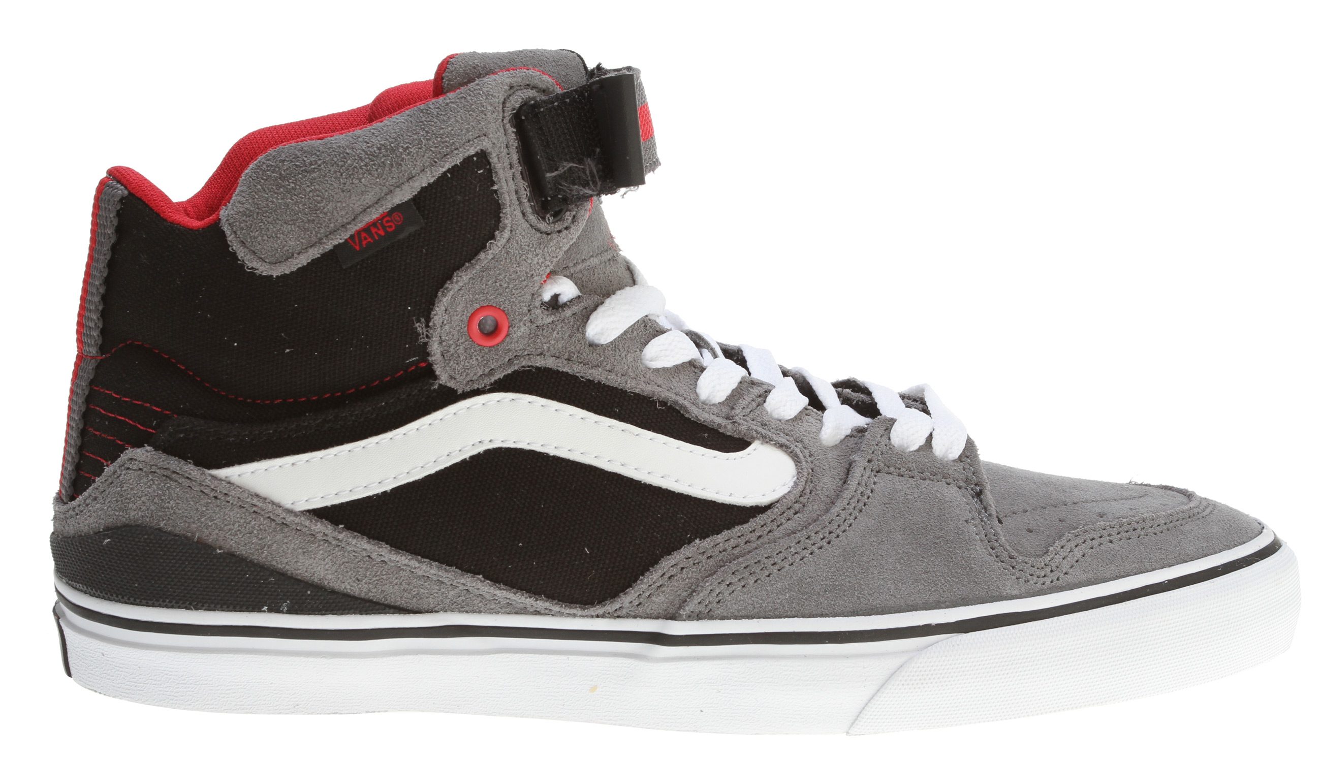 BMX The second edition of the Owens Hi, endorsed by BMX pro Chase Hawk, rests not on its laurels but rather continues the line's innovating ways. Double and triple stitching provides new heights in performance durability, and other components provide unmatched comfort, support, and heel cushioning. The new look features fine suede, and pebbled leather inlays. Beneath are Vans' famous waffle rubber soles.Key Features of the Vans Owens Hi 2 Bike Shoes: Endorsed by Chase Hawk. Waffle Grip: Superior quality outsole rubber compound and tread pattern without compromising durability. Mega Thane: Drop in polyurethane midsole insert for exceptional comfort and cushioning in our classic vulcanized construction. - $70.00