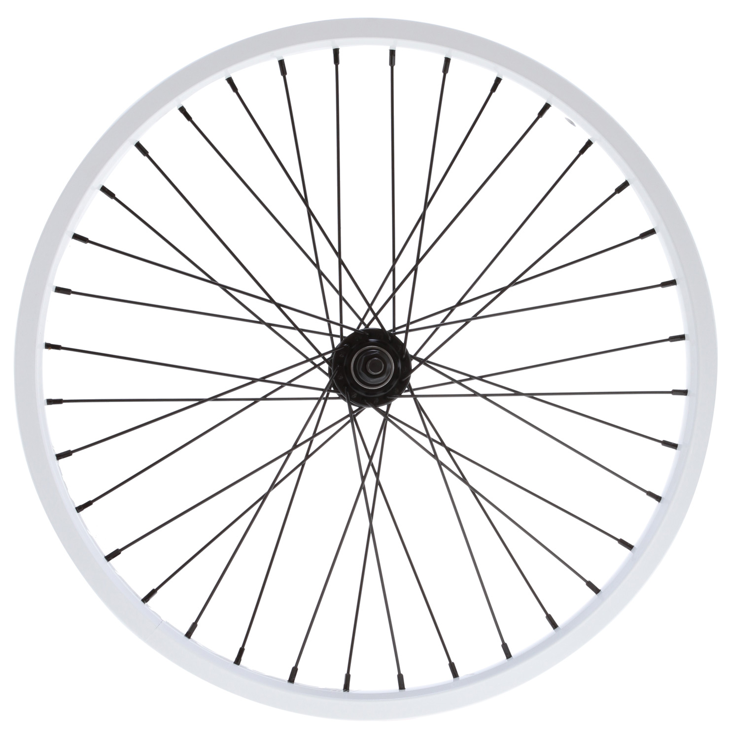 "BMX The Nitrous Double shot is a great, strong front wheel at a price you will love.Key Features of the Nitrous Double Shot Front 3/8 36H BMX Wheel 3/8"": Low-profile sealed bearing front hub 3/8"" chromoly axle 14g spokes 36-hole, double-walled alloy rim Colors: Matte Black, Matte Red, Matte Blue, Matte Flatinum, Matte Purple, Matte Hot Blue or Matte Gold Weight: 30 ounces Hub Flange Diameter: 44.5mm Rim E.R.D: 391 Spoke Length: 187mm - $58.95"