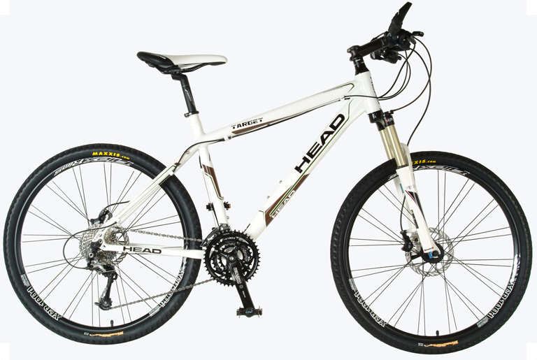 "MTB Key Features of the Head Target Bike: HEAD 6066 MTB alloy frame RST F1RST AIR SRL suspension fork Shimano SLX/XT 27 speed Shimano SLX shifters Avid Juicy 3 hydraulic disc brake Truvativ Blaze 3.0 chain wheel Alexrims XCR 100d DW wheel set Maxxis WormDrive tires Size: 26 X 17/19/21"" - $1,399.95"