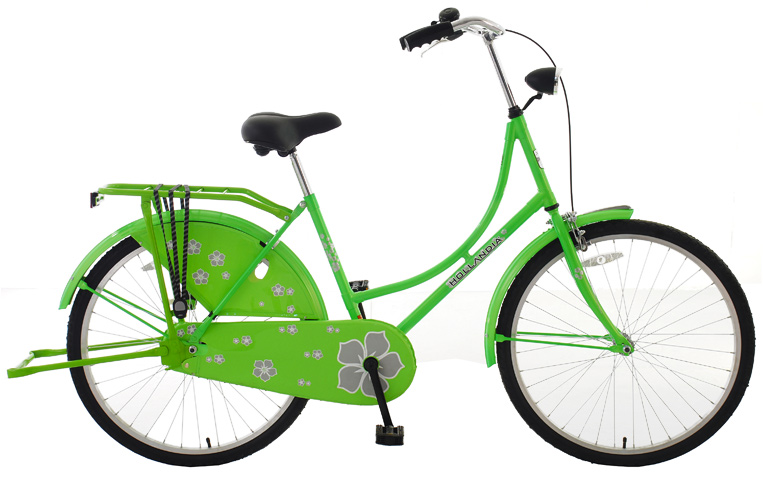 "Entertainment Key Features of the Hollandia New Oma 26 Bike: 26"" Wheel Hi-Ten TIG Frame Double leg intergrated kickstand Front caliper and rear coaster brakes Accessories include fenders, rear dutch style rack, inclosed chainguard / dress guard, and headlight - $289.99"
