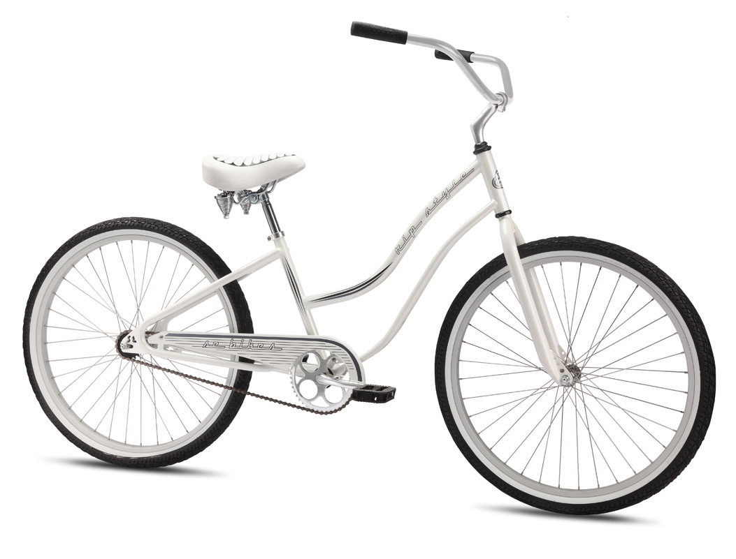 "BMX Key Features of the SE Rip Style BMX Bike White 26In: Frame Hi-Ten SE Cruiser, Double Downtube, Looptail Rear End, Bottom Bracket Kickstand Mount Fork Landing Gear Crankset 1-pc SE Steel, American BB, 170mm, 44T Pedals Barefoot Pedals w/ Boron Axle Chain KMC Z-410 Wheelset KT Front Hub, KT Coaster Brake Rear Hub w/ Alloy Rims, 36H, Stainless Spokes, 18T Tires Innova, 20 x 2.125"" F & R Brakes KT Coaster Brake Brake levers Nil Headset 1"" Threaded Handlebar Men's 28.5"" Wide, Women's 27"" Wide Stem 1"" Alloy Grips Velo Kraton Seat Rip Style w/ Single Spring Seat post SE Straight Post Extras Kickstand Weight 34.70lbs / 15.77kgs TOP TUBE LENGTH 22.7"" SEAT TUBE, CENTER TO TOP 15"" HEAD TUBE ANGLE 70 degree SEAT TUBE ANGLE 68 degree CHAINSTAY 21.3"" WHEELBASE 45.9"" HEAD TUBE LENGTH 5.9"" BB HEIGHT 10.8"" STANDOVER HEIGHT 25.8"" - $232.95"
