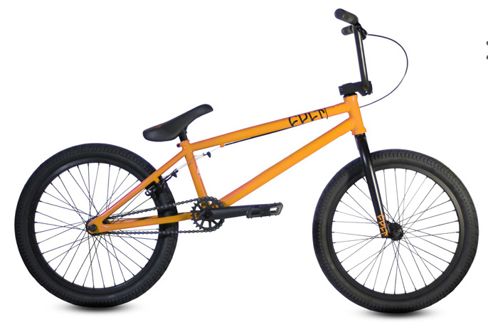 BMX Key Features of the Cult CC01 BMX Bike: Dehart Grips 25-9 gear ratio/rear sealed hub Cult 410 chain Cult pedals 8x28 handlebar Embossed 1 piece seat combo 20.75 top tube length - $359.95