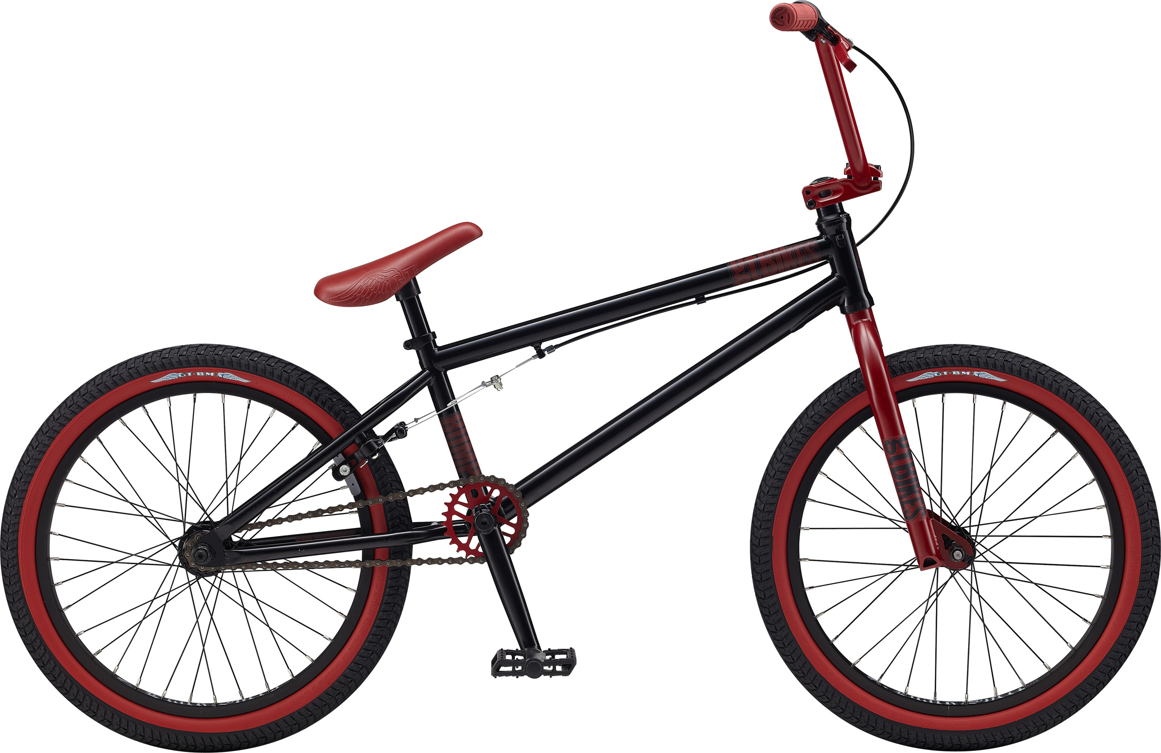 "BMX Key Features of the GT Bump BMX Bike 20"": Frame: NEW Straight Gauge, 3 Tubes Cro Mo , (Tt, St, DT), Dumped C/S, Triple Triangle™, 14mm Dropouts, S/S Mounted Brake Mounts, W/ Removable Rotor Tabs, Front Suspension: GT, Cro-Mo Steerer/ Hi-Ten, 31.8-28.6 Taper, 3/8, 1 1/8"" Crankset: GT Cro-Mo 3 Pcs, 8T, 175mm 25T Wheels/Hubs: GT AL Cassette Sealed 3/8F, 14mmr 32F, 36R Hole Brakes: Tektro FX340R - $299.99"