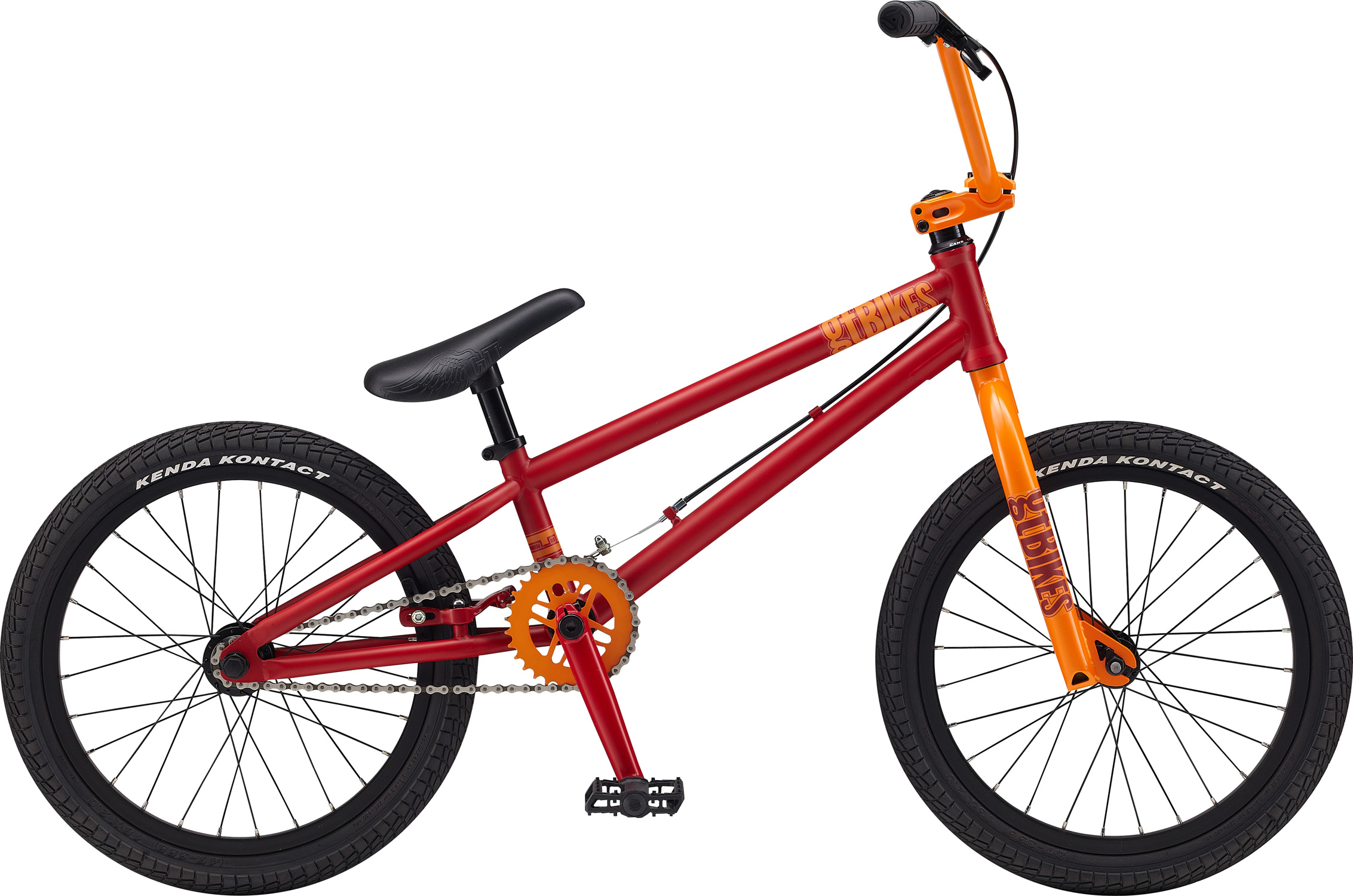 "BMX Key Features of the GT Fly BMX Bike 18"": Frame: NEW Straight Gauge, Hi-Ten, Dumped C/S, TripleTriangle™, 14mm Dropouts, S/S Mounted Brake Mounts Front Suspension: GT, Full Hi-Ten, 31.8-28.6 Taper, 3/8, 1 1/8"" Crankset: GT Cro-Mo 3 Pcs, 8T, 160mm 30T Wheels/Hubs: GT Al Cassette Loose Ball, 3/8""F, 3/8""R 28F, 28R Hole Brakes: Tektro FX340R - $249.99"