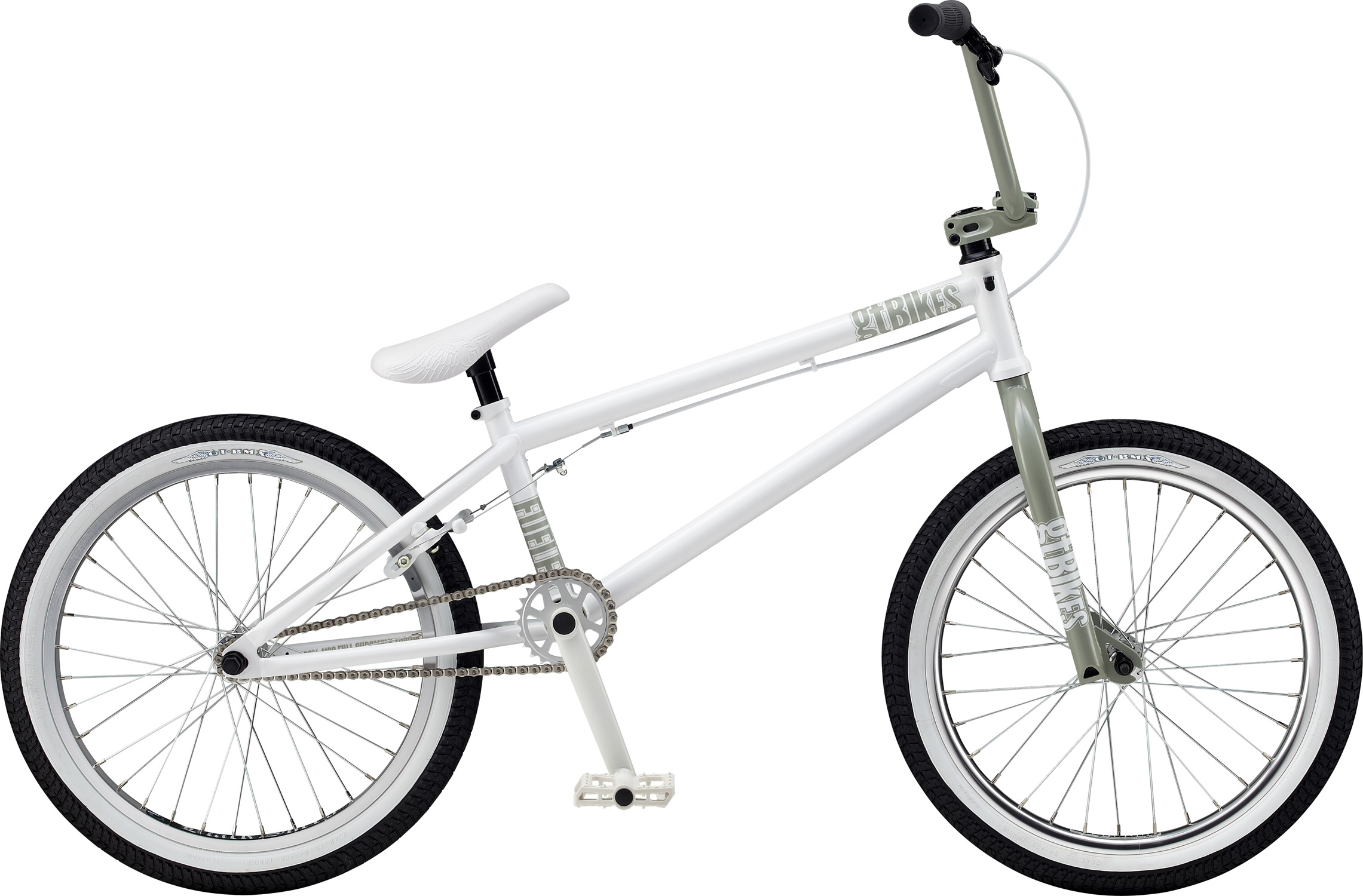 "BMX Key Features of the GT Fueler BMX Bike 20"": Frame: NEW 2012 GT Dirt Design, 100% Cro-Mo Tubes, 1-1/8""120mm Integrated H/T, Mid BB, w/ Removable Rotor And Cable Guides, Removable Brake Bosses, 6mm Cro-Mo Dropouts Front Suspension: GT, 100% Cro-Mo, 31.8-28.6 Taper, 3/8, 1 1/8"" Crankset: GT Cro-Mo 2 Pcs, 48T, 175mm Al 25T Wheels/Hubs: GT AL Mohawk Cassette Sealed 32F, 36R Hole Brakes: Tektro FX720R - $439.99"