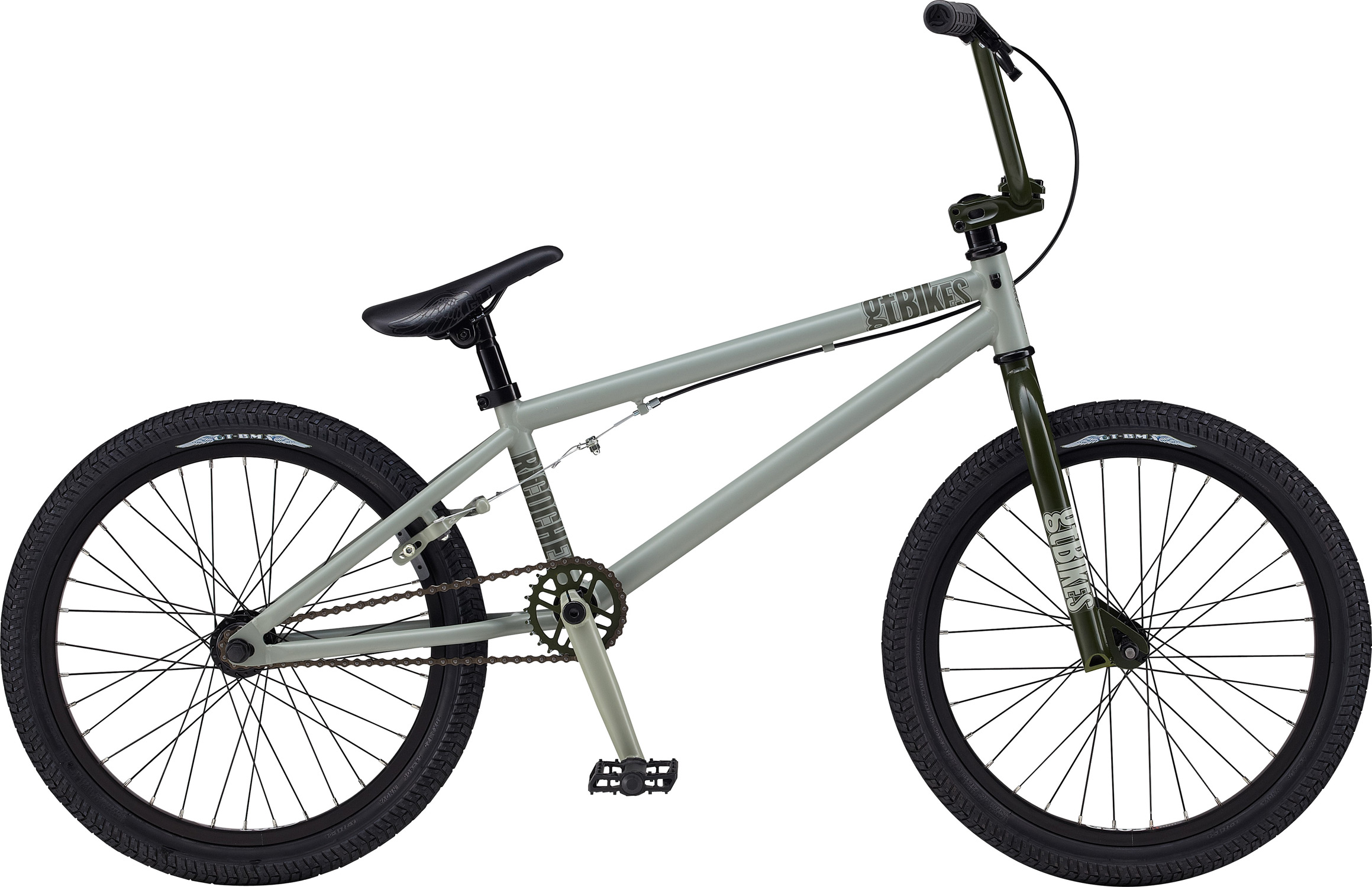 "BMX Key Features of the GT Richochet BMX Bike: Frame: NEW Straight Gauge, Hi-Ten, Dumped C/S, Lubid S/S, 14mm Dropouts, C/S Mounted Brake Mounts Front Suspension: GT, Full Hi-Ten, 31.8-28.6 Taper, 3/8, 1 1/8"" Crankset: GT 3 Pcs Cro-Mo, 8T, 170mm 28T Steel Wheels/Hubs: GT AL Cassette Loose Ball, 3/8""F, 14mmr 32F, 36R Hole Brakes: Tektro - $201.95"