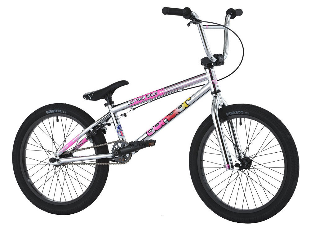 "BMX Key Features of the Hoffman Condor BMX Bike 20in: Custom frame, fork & bar design HB 8.25"" Rise handlebars Blitz seat/post combo 25/9 Drive-train with cassette hub Fit 2.1"" FAF tires 3-Piece chromo tubular cranks Sealed mid B/B Weight: 25.6 lbs - $319.95"