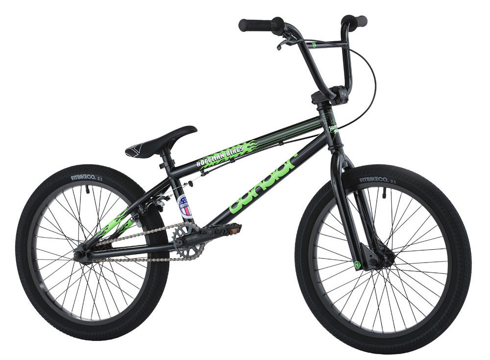 "BMX Key Features of the Hoffman Condor BMX Bike 20in: Custom frame, fork & bar design HB 8.25"" Rise handlebars Blitz seat/post combo 25/9 Drive-train with cassette hub Fit 2.1"" FAF tires 3-Piece chromo tubular cranks Sealed mid B/B Weight: 25.6 lbs - $313.95"