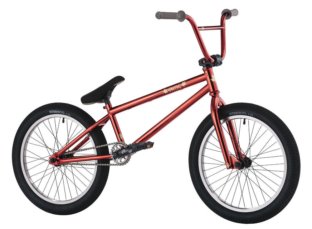 "BMX Key Features of the Hoffman Ontic IL BMX Bike 20in: Chromo main frame, integrated head tube & sealed mid B/B Brakes or no brakes option HB Chromo fork with tapered legs, 8.25"" rise chromo handlebars, Black Ops seat & Dinky alloy sprocket Blitz double wall rims & 3-piece chromo tubular cranks Fit 2.25"" FAF tires Weight: 24.1 lbs - $399.95"