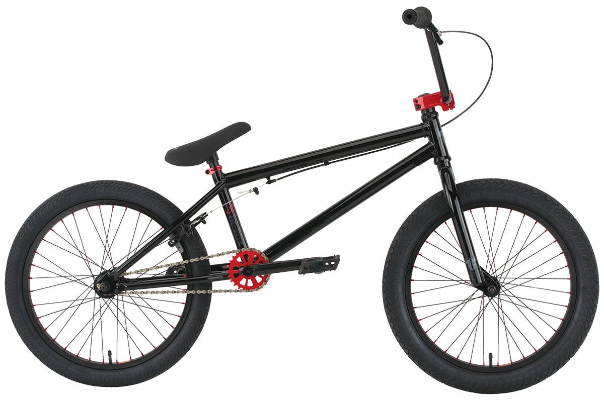 "BMX Key Features of the Premium Solo 20In BMX Bike: Crmo downtube frame with Mid BB shell and integrated head tube 25/9 gearing Premium padded seat with built-in alloy post Odyssey Twisted plastic pedals Alienation PBR rims with alloy nipples Premium CK tires 2.4"" front and 2.0"" rear Three-piece chromoly 175mm 8-spline cranks with sealed Mid BB Premium alloy front load stem Hi-ten bars 8.25"" (on 20"" and 20.5"") or 8.5"" (on 21"") Alloy 990 brake WEIGHT 25.5lbs SIZING 20"", 20.5"", 21"" FRAME Crmo down tube w/ Mid BB and Integrated HT - 20"" 20.5"" or 21"" TT FORK 1 1/8"" Crmo threadless steer tube w/Hi-ten legs CRANKS 3 pc. tubular Crmo 175mm w/sealed MID BB PEDALS Odyssey plastic pedals TIRES Premium 20x2.40 F / 20x2.0 R WHEELS 36h Alienation PBR alloy SW front and rear ROTOR N/A Straight Cable GRIPS Premium Counterfeit BARS Hi-ten - 8.25"" rise w/20.5"" frame 8.5"" rise w/21"" frame SEAT Premium slim padded one piece seat with built in post PEGS N/A - $349.99"