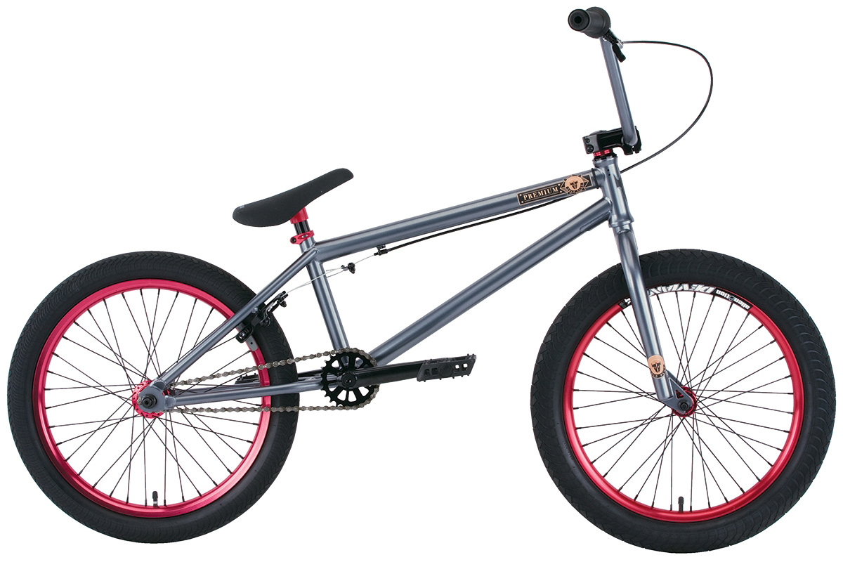"BMX Key Features of the Premium Solo + 20.5In BMX Bike: Butted crmo downtube frame with integrated head tube, Mid BB shell and removable brake and cable mounts Crmo steer tube fork with hi-ten tapered legs Hi-ten bars 8.25"" (on 20.5"") or 8.5"" (on 21"")with Premium alloy front load stem Three-piece crmo 8-spline 175mm cranks with sealed Mid BB Fully sealed wheels with Samsara rear and Deviant front double-wall rims and alloy nipples Premium CK tires 2.4"" front and 2.0"" rear Odyssey Twisted plastic pedals Premium padded seat with built-in alloy post 25/9 gearing WEIGHT 25lbs SIZING 20.5"", 21"" FRAME Crmo down tube w/removable brake mounts - 20.5"" or 21"" TT FORK 1 1/8"" Crmo threadless steer tube w/Hi-ten tapered legs CRANKS 3 pc. tubular Crmo 175mm w/sealed MID BB PEDALS Odyssey plastic pedals TIRES Premium 20x2.40 F / 20x2.0 R WHEELS Alienation 36H Deviant DW Frt/Samsara DW Rear ROTOR N/A Straight Cable GRIPS Premium Counterfeit BARS Hi-ten - 8.25"" rise w/20.5"" frame 8.5"" rise w/21"" frame SEAT Premium slim padded one piece seat with built in post PEGS N/A - $449.99"