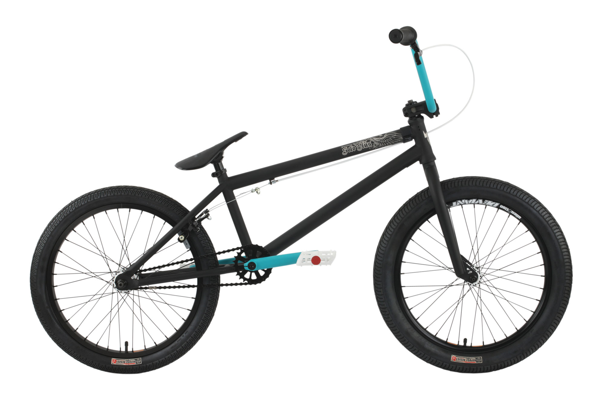 "BMX Key Features of the Premium Solo Plus BMX Bike: Premium Frame With A Chromoly Down Tube, Mid Bb Shell, Internal Head Tube And Removable Brake Mounts Odyssey Twisted Plastic Pedals Premium Plastic Pivotal With Forged Pivotal Post 8""-8.25"" Rise Bar With Alloy Front Load Stem Three-Piece Chromoly Eight-Spline Cranks 175Mm With Mid Sealed Bearing Bb 25/9 Gearing 36H Alloy Sealed Bearing Cassette Hub With 9T Driver And 14Mm Axles Premium Street Tires; 2.25"" Front, 2.0"" Rear Frame Crmo Down Tube, Mid Bb, Internal Ht – 20?, 20.5? Or 21? Tt Fork 1 1/8? Crmo Steer Tube – Threadless Grip Premium Counterfeit Handlebar Premium Hi-Ten – 8? Rise Crankset 3 Pc. Tublar Crmo 175Mm W/Sealed Mid Bb Gearing 25/9 W/Sealed Bearing Cassette One Piece 9T Driver Tires Premium Street Tires, 2?X2.25? F / 20×2.0? R Hubset 36H 3/8? F / Alloy Loose Ball Cassette 14Mm Axle R Rims 36H Alienation Pbr Alloy Sw Front And Rear Seat/Post Premium Pivotalastic Seat W/ Pivotal Post Pedals Odyssey Twisted Plastic Pedals Rotor N/A Straight Cable Pegs N/A - $347.95"
