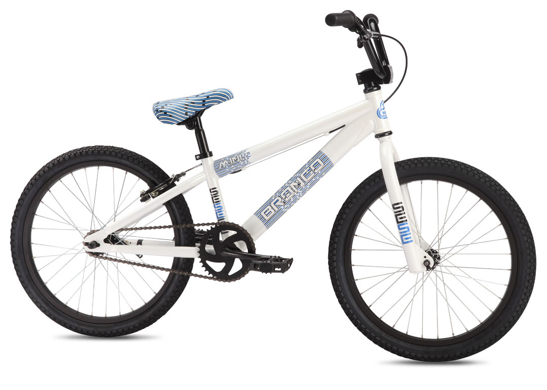 "BMX Key Features of the SE Bronco BMX Bike White 20In: Color(s) White, Red, Blue Frame SE Racing Hi-ten Fork SE Racing 1-1/8"" Threadless Crankset 1-pc Steel, American BB, 140mm, 36T Pedals Composite Resin Chain KMC Z410 Wheelset SE Racing 32H Hubs with Alex C1000 rims, 16T Coaster Brake Tires Innova, 20 x 1.95"" F, 20 x 1.75"" R Brakes C-Star V-Brake Brake levers Promax 2-Finger Headset Tange 1 1/8"" Threadless Handlebar SE Wing Bar, 21"" x 5.5"" Stem SE Racing Front Load 1-1/8"" Alloy Grips Mini Grip Seat SE Racing w/ Custom Imprinted Cover Seat post SE Racing Straight Post, 25.4 Weight 26lbs / 11.81kgs TOP TUBE LENGTH 18"" SEAT TUBE, CENTER TO TOP 10"" CHAINSTAY 13.4"" HEAD TUBE ANGLE 72 degree SEAT TUBE ANGLE 72 degree WHEELBASE 33.5"" SEAT POST DIAMETER 25.4mm RIDER SIZE 4'- 4'8"" (122cm-142cm) - $167.95"
