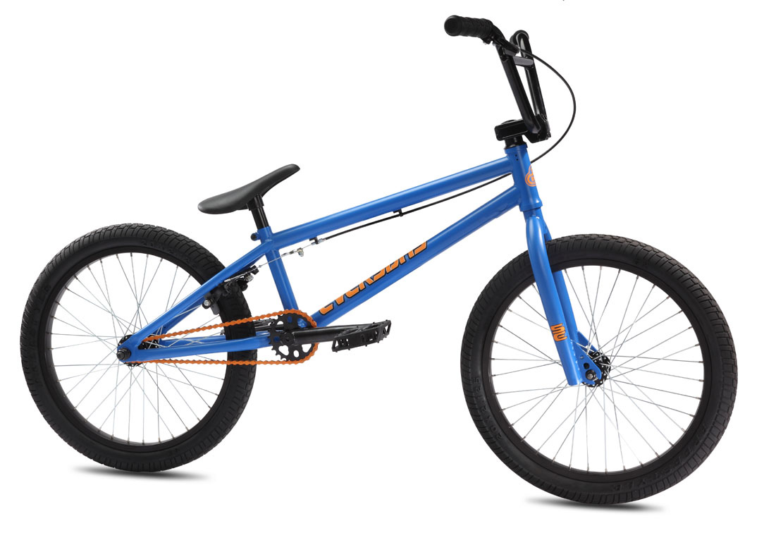 "BMX The Everyday is a new bike for 2012. It's built on a similar frame design as the Hoodrich - mid-BB and integrated headset - but instead of Cr-Mo frame, fork, and bars, it uses Hi-Ten tubing and has a 1/3"" shorter top tube. The key features of this bike are the integrated headset, 25-9 gearing, mid-BB, and PRICE! - 25.4 lbs.Key Features of the SE Everyday BMX Bike 20"": Frame: Integrated Head Tube, Integrated Seat Clamp, Mid BB, Drilled for Removable Rotor Tabs, Cable Guides and Brake Mounts Fork: Tapered Legs, 3/8"" Dropouts Crankset: 3-pc Cr-Mo 175mm, Mid Sealed Bearing, 25T Bubble Sprocket Pedals: FPD Plastic Composite Chain: KMC Z410 Wheelset: SE Alloy 36H 3/8"" F and 14mm R Hubs with Alloy Rims, 9T Driver Tires: Kenda K-Rad 2.125"" F and R Brakes: C-Star RX-935D U-Brake, Soft Compound Shoes Brake levers: Tektro 319AC Headset: Tange 1-1/8"" Threadless Handlebar: SE Wing Bar, 27.5 x 7.5"" Stem: SE Front Load Alloy Grips: SE Bubble Jump Grip with Rubber SE End Plugs Seat: Lightweight SE Seat/ Post Combo Seat post: Integrated Alloy 25.4 Weight: 25.40 lbs - $229.95"