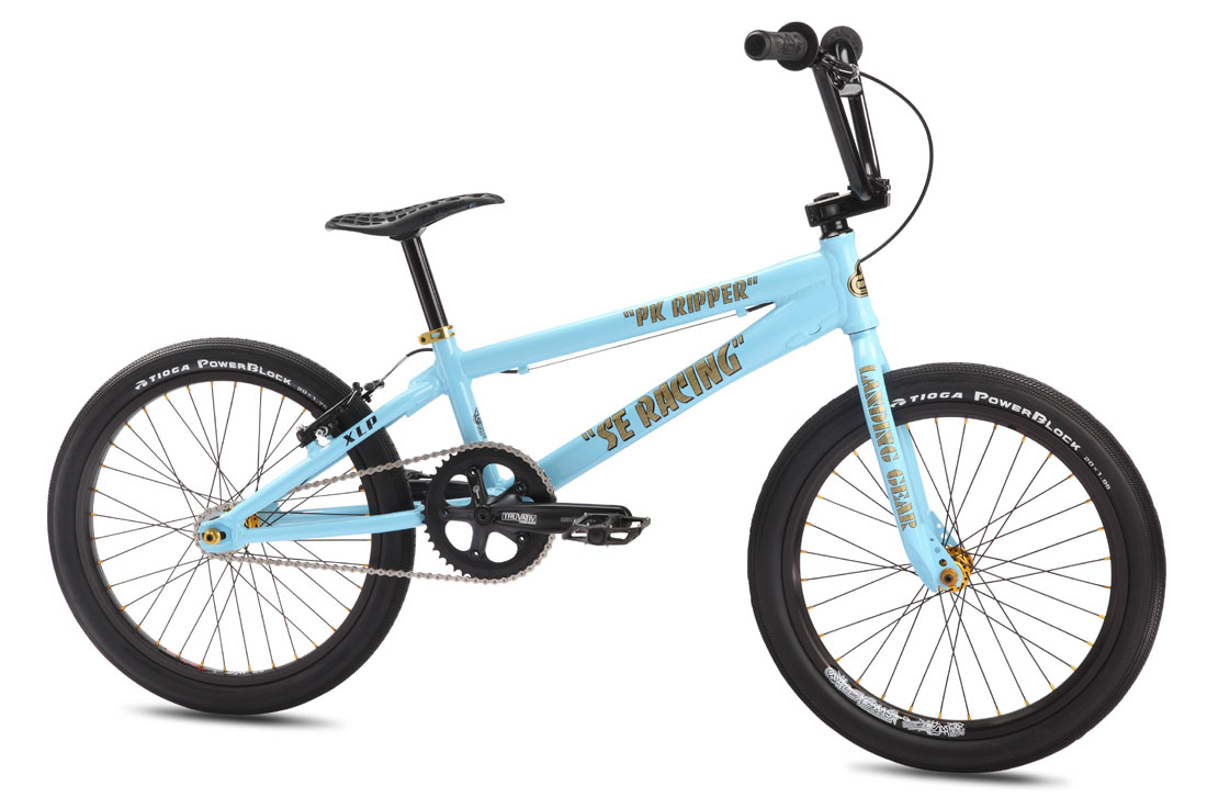 "BMX Key Features of the SE PK Ripper Team XLP BMX Bike Blue 20In: Color(s): SE Blue Frame: Lightweight 6066 Aluminum Floval Tubing, Internally Machined Integrated Head Tube, 3D Forged Dropouts Fork: 100% Cr-Mo Landing Gear, Tapered Legs, w/ Internally Threaded Steerer Tube Crankset: Truvativ Racing XR 180mm Cranks, ISIS Drive Sealed Bearing Gigapipe BB, 44T 7075-T6 Alloy Chain Ring Pedals: X-Pedo Low Profile Platform w/ Removable Pins Chain: KMC Z33 Wheelset: Sealed Bearing Hollow Axle Alloy Hubs w/ Alex Supra BH20 32H F & 36H DM22 R, Double Wall Rims, 16T Cassette Tires: Tioga Powerblock 1.95"" F, 1.75"" R Brakes: Tektro 930AL V-Brake, Slick Cable Brake levers: Tektro BX-2, 2-Finger Alloy Headset: Tange Sealed 1-1/8"" Integrated Headset Handlebar: Cr-Mo PK Bar, 27.25 x 7.5"" Stem: SE Top Load Alloy, Lightweight External Cutouts Grips: SE Racing Wing Grip w/ SE Rubber End Plugs Seat: Extremely Lightweight Tioga D Spyder Pivotal Seat post: Pivotal Micro-Adjust Aluminum, 27.2mm Extras: Race Plate, Touch-up Paint Weight: 20.75lbs / 9.43kgs - $473.95"