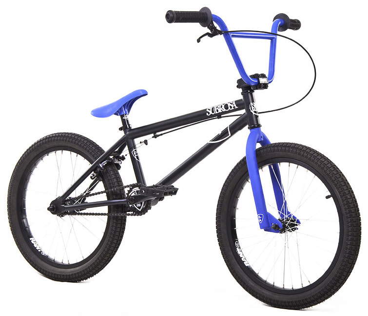 "BMX Key Features of the Subrosa Altus BMX Bike 20"": FRAME: 1020 hi-tensile steel - 19.5"" TT / 75 degree HT / 71 degree ST / 13.75"" CS FORK: 1020 hi-tensile steel - 35mm offset BARS: 1020 hi-tensile steel - 7.5"" rise / 10 degree backsweep / 3 degree upsweep / 26"" wide GRIPS: Shadow Finger Banger BAR ENDS: Shadow Nylon Push In HEADSET: 1 1/8"" threadless headset STEM: Rant alloy front load stem RIMS: Rant, alloy 36H FRONT HUB: 3/8"" axle steel REAR HUB: 14mm axle, steel rear hub TIRES: 20"" x 2.2"" street tires CRANKS: Forged 3pc. 8T 170mm steel cranks w/ loose American BB SPROCKET: Subrosa Shield steel GEARING: 25-9 compact gearing CHAIN Taya 410 PEDALS: Plastic Platform BRAKES: Rant alloy U-brakes w/ straight cable and Rant alloy lever SEAT / POST: Shadow Solus 1pc PC SEAT CLAMP: Slim style alloy WEIGHT: 27.3 lbs - $269.95"