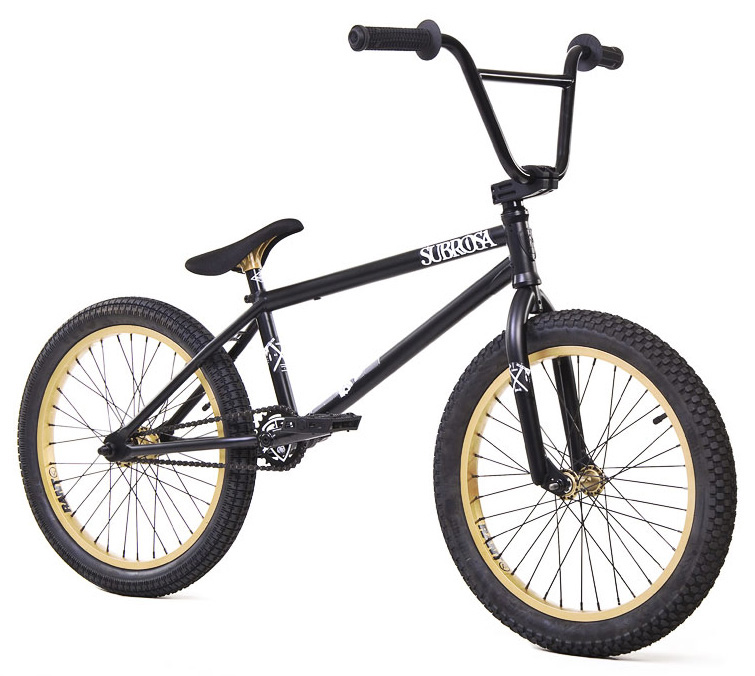 "BMX Key Features of the Subrosa Altus Dirt BMX Bike 20"": FRAME: Japanese seamless 4130 chromoly TT and DT - 20.5"" TT / 75 degree HT / 71 degree ST / 13.75"" CS / 9"" standover height, removable brake mounts FORK: 4130 chromoly steer tube, 30mm offset, tapered legs, integrated bearing race BARS: 100% 4130 chromoly - 8.25"" rise / 12 degree backsweep / 1 degree upsweep / 28"" wide GRIPS: Shadow Finger Banger BAR ENDS: Shadow Nylon Push In STEM: Custom Forged Subrosa Hold On alloy top load stem RIMS: Rant alloy 36H FRONT HUB: Alloy 3/8"" axle REAR HUB: Semi sealed alloy 14mm cassette TIRES: 20"" x 2.35"" knobby front / 20"" x 2.2"" street rear CRANKS: Rant 4130 seamless chromoly tubular 3pc. 8 spline, 175mm, with sealed mid BB SPROCKET: Subrosa Shield GEARING: 25-9 micro CHAIN: Taya 410 PEDALS: Shadow Ravager Plastic BRAKES: Rant alloy U-brakes w/ straight cable and Rant alloy lever SEAT: Shadow Solus Slim 1pc Seat / Post combo SEAT CLAMP: Intergrated into frame WEIGHT: 25.8 lbs - $379.95"