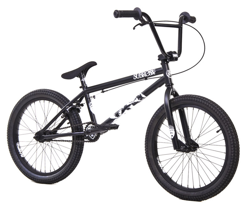 "BMX Key Features of the Subrosa Tiro BMX Bike 20"": FRAME: 1020 hi-tensile steel - 20.0"" TT / 75 degree HT / 71 degree ST / 13.75"" CS 8.5"" standover height FORK: 1020 hi-tensile steel - 35mm offset BARS: 1020 hi-tensile steel - 7.75"" rise / 12 degree backsweep / 1 degree upsweep / 28"" wide GRIPS: Shadow Finger Banger BAR ENDS: Shadow Nylon Push In HEADSET: 1 1/8"" threadless headset STEM: Rant alloy front load RIMS: Rant alloy 36H FRONT HUB: 3/8"" steel front hub REAR HUB: Semi sealed, alloy 14mm Axle cassette TIRES: 20"" x 2.20"" front and rear CRANKS: Rant 4130 seamless chromoly tubular 3pc. 8 spline, 175mm, with sealed mid BB SPROCKET: Subrosa Shield steel sprocket GEARING: 25-9 CHAIN: Taya 410 PEDALS: Plastic Platform BRAKES: Rant alloy U-brakes w/ straight cable and Rant alloy lever SEAT: Shadow Solus Slim 1pc Seat / Post combo SEAT CLAMP: Slim style alloy WEIGHT: 26.5 lbs - $299.95"