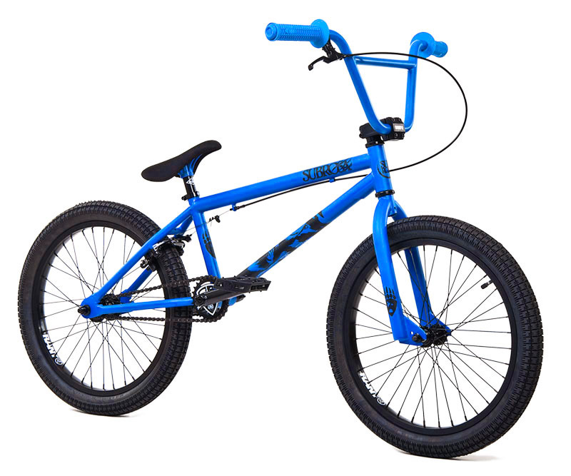 "BMX Key Features of the Subrosa Tiro BMX Bike 20"": FRAME: 1020 hi-tensile steel - 20.0"" TT / 75 degree HT / 71 degree ST / 13.75"" CS 8.5"" standover height FORK: 1020 hi-tensile steel - 35mm offset BARS: 1020 hi-tensile steel - 7.75"" rise / 12 degree backsweep / 1 degree upsweep / 28"" wide GRIPS: Shadow Finger Banger BAR ENDS: Shadow Nylon Push In HEADSET: 1 1/8"" threadless headset STEM: Rant alloy front load RIMS: Rant alloy 36H FRONT HUB: 3/8"" steel front hub REAR HUB: Semi sealed, alloy 14mm Axle cassette TIRES: 20"" x 2.20"" front and rear CRANKS: Rant 4130 seamless chromoly tubular 3pc. 8 spline, 175mm, with sealed mid BB SPROCKET: Subrosa Shield steel sprocket GEARING: 25-9 CHAIN: Taya 410 PEDALS: Plastic Platform BRAKES: Rant alloy U-brakes w/ straight cable and Rant alloy lever SEAT: Shadow Solus Slim 1pc Seat / Post combo SEAT CLAMP: Slim style alloy WEIGHT: 26.5 lbs - $279.95"