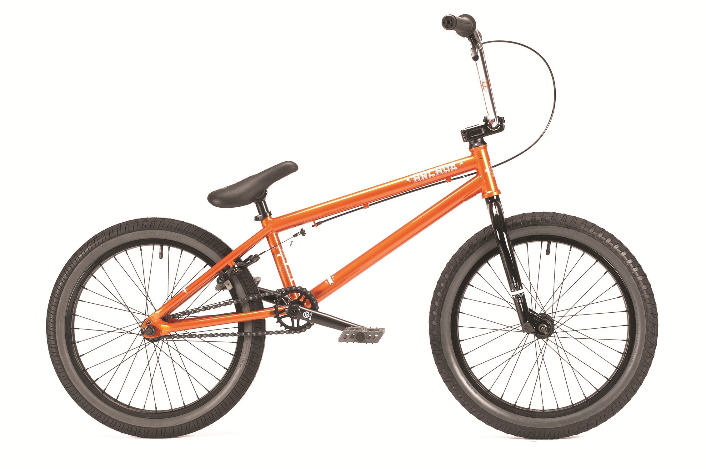 BMX With its superior agility and unique design the Arcade gets you off to the perfect start in the world of BMX. The Arcade includes: SB integrated headset; SB-BB; 25t/9t gearing; WTP Arcade pivotal seat; eCLAT Surge pedals; new Arrow grips and a full SB cassette hub. A stunning set of carefully designed graphics adds the finishing touches to a bike that is designed for a rider that's about to take his love of BMX one step further. - $359.95