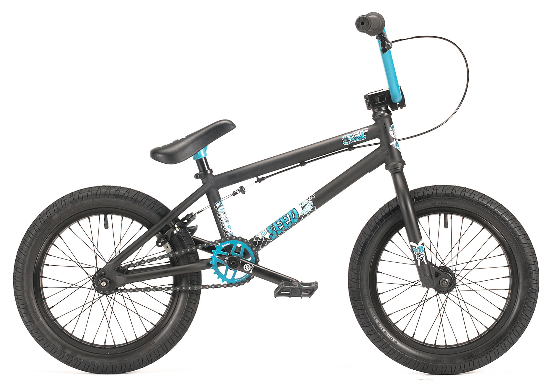 "BMX The Seed is not your average 'kids' bike. It comes w/ 25t/10t gearing, SALT junior nylon/fiberglass pedals and a SALT 'kid' sized brake lever. We added a 3/8"" rear axle, and single walled 32 hole rims as well. You'll also notice the Seed comes w/ an integrated headset, a full SB cassette hub, a short offset stem, and our new 2013 Arrow grips. Don't let your size get in the way of all the fun a WTP complete bike can offer, start today and work your way up when you're good and ready. - $379.99"
