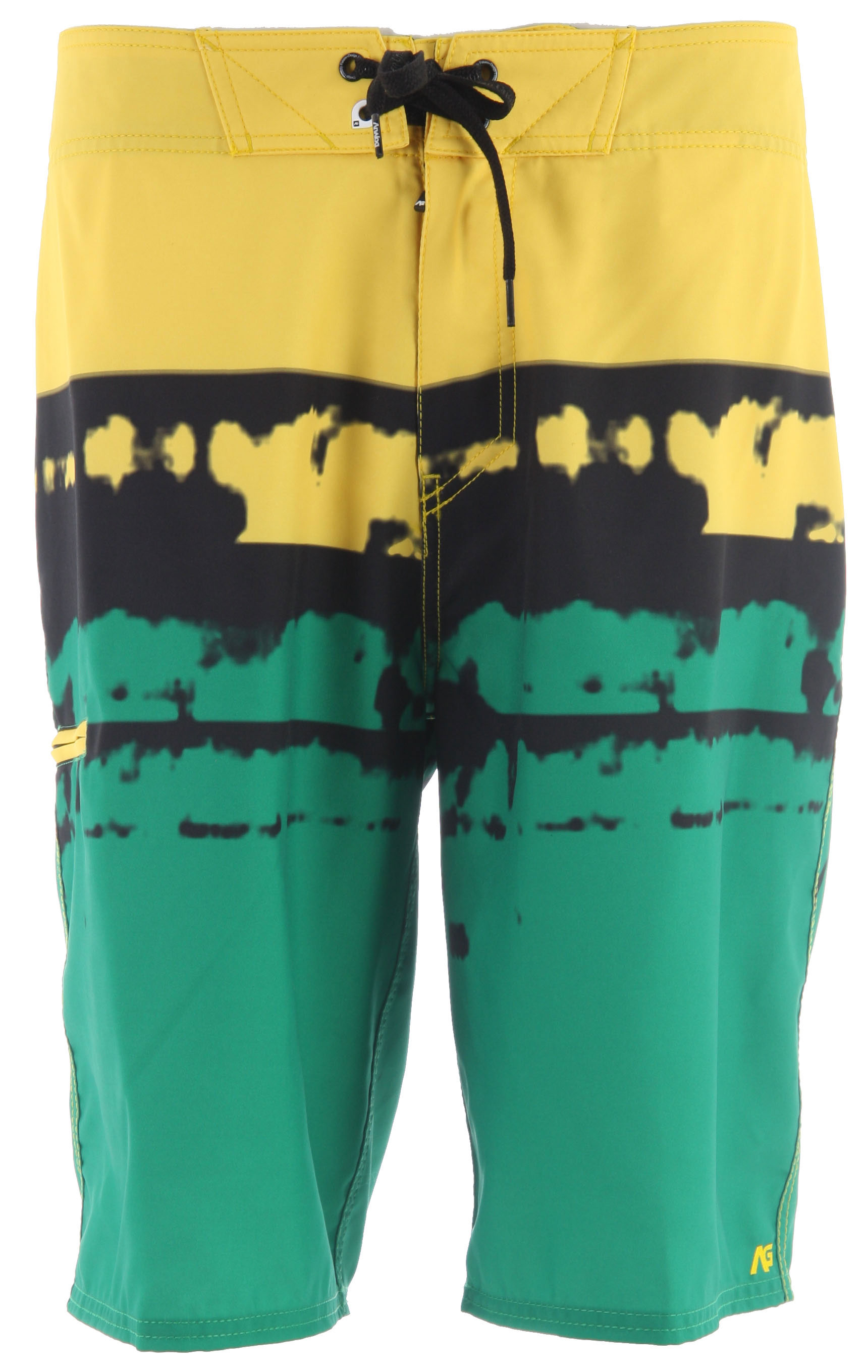 "Surf Key Features of the Analog Dorado Boardshorts: 22"" Outseam 100% Polyester 4-way stretch Zip fly Anti rash lycra facing at inside fly and inside front rise Blank house key Anti slip drawcord - $34.95"