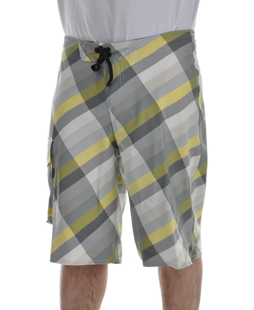 "Surf Key Features of The Analog Telemetry Boardshorts: 22"" Outseam Yarn Dye Side Cargo Pocket with Detachable Metal Logo Tiger Thread Construction AG Zip Fly Logo Wax Comb Heat Transfer Interior Label - $24.46"
