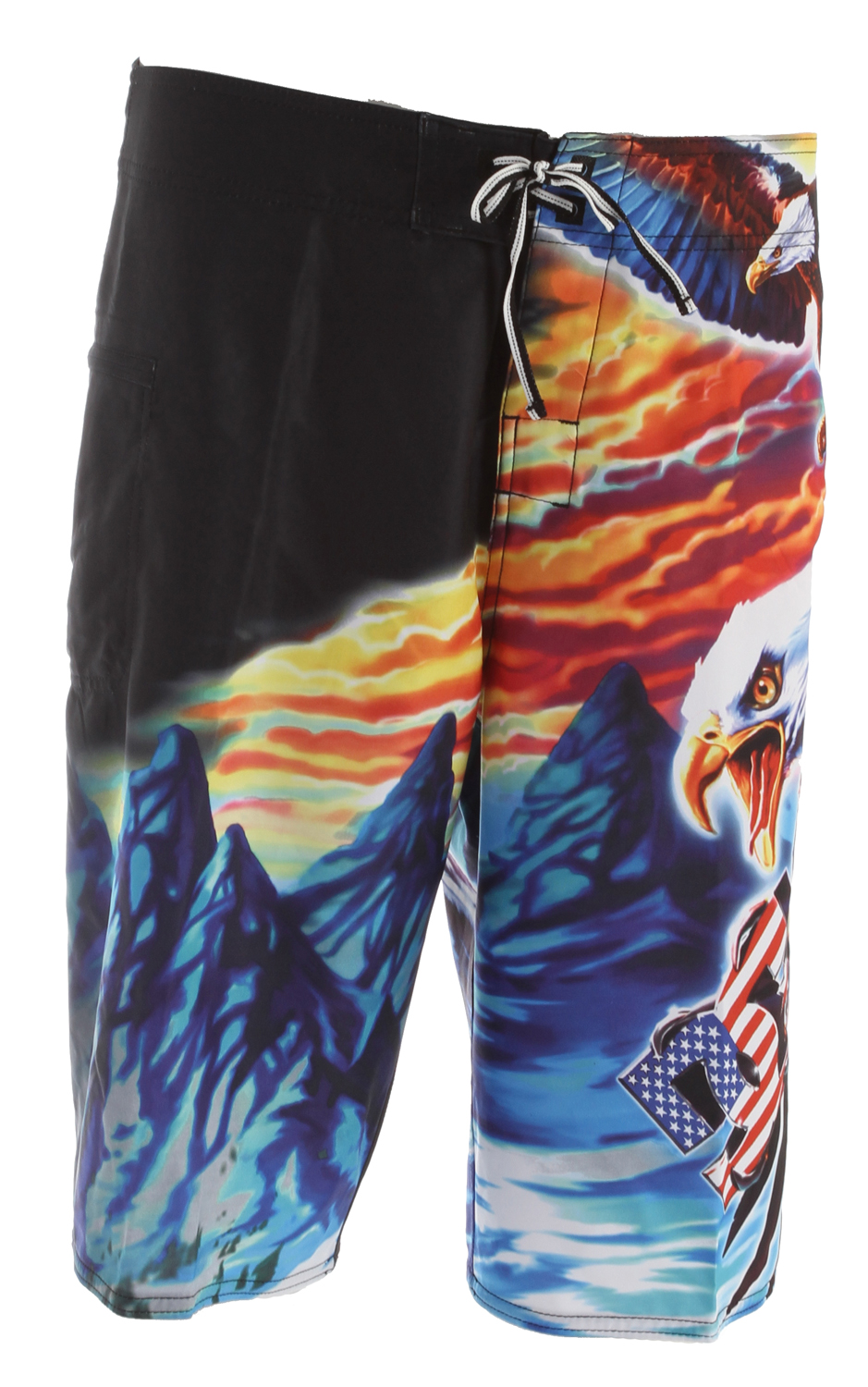 "Surf Key Features of the DC Truckstop Boardshorts: 4-Way Mechanical Stretch +Engineered Novelty Print Zip Pocket Neo Fly Embroidered Eyelets Lycra Lined Bottom Hems & Front Rise Seamless Side Panels Customized Trim 22"" 100% Polyester - $54.00"