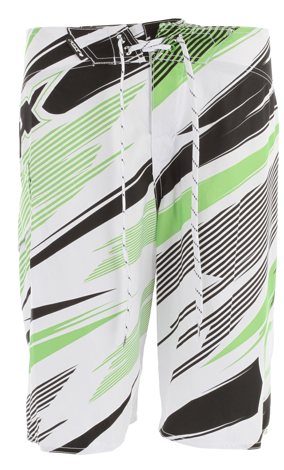 "Surf Key Features of the Fox Bionic Shards Boardshorts: 100% polyester mesh stretch All over sublimated graphics Side pocket Velcro fly Wax comb 22 1/2"" outseam - $54.50"
